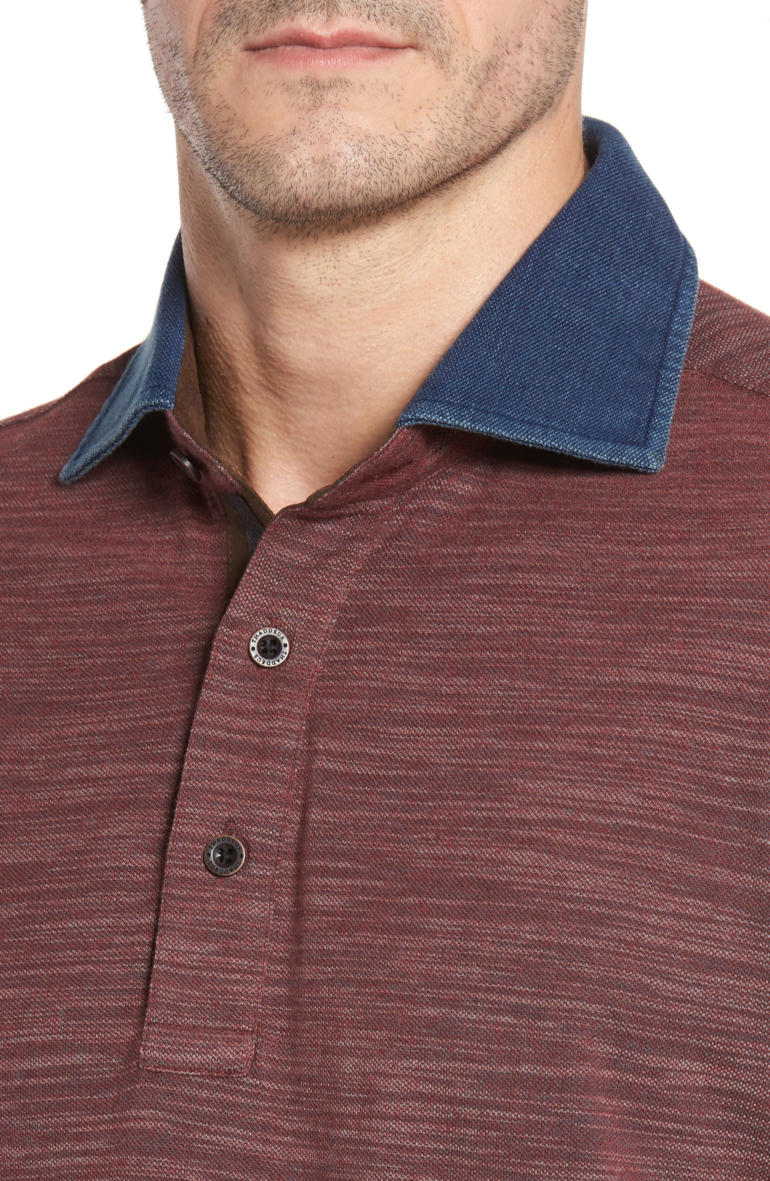 Patton Space Dyed Long Sleeve Polo,                             Alternate thumbnail 12, color,