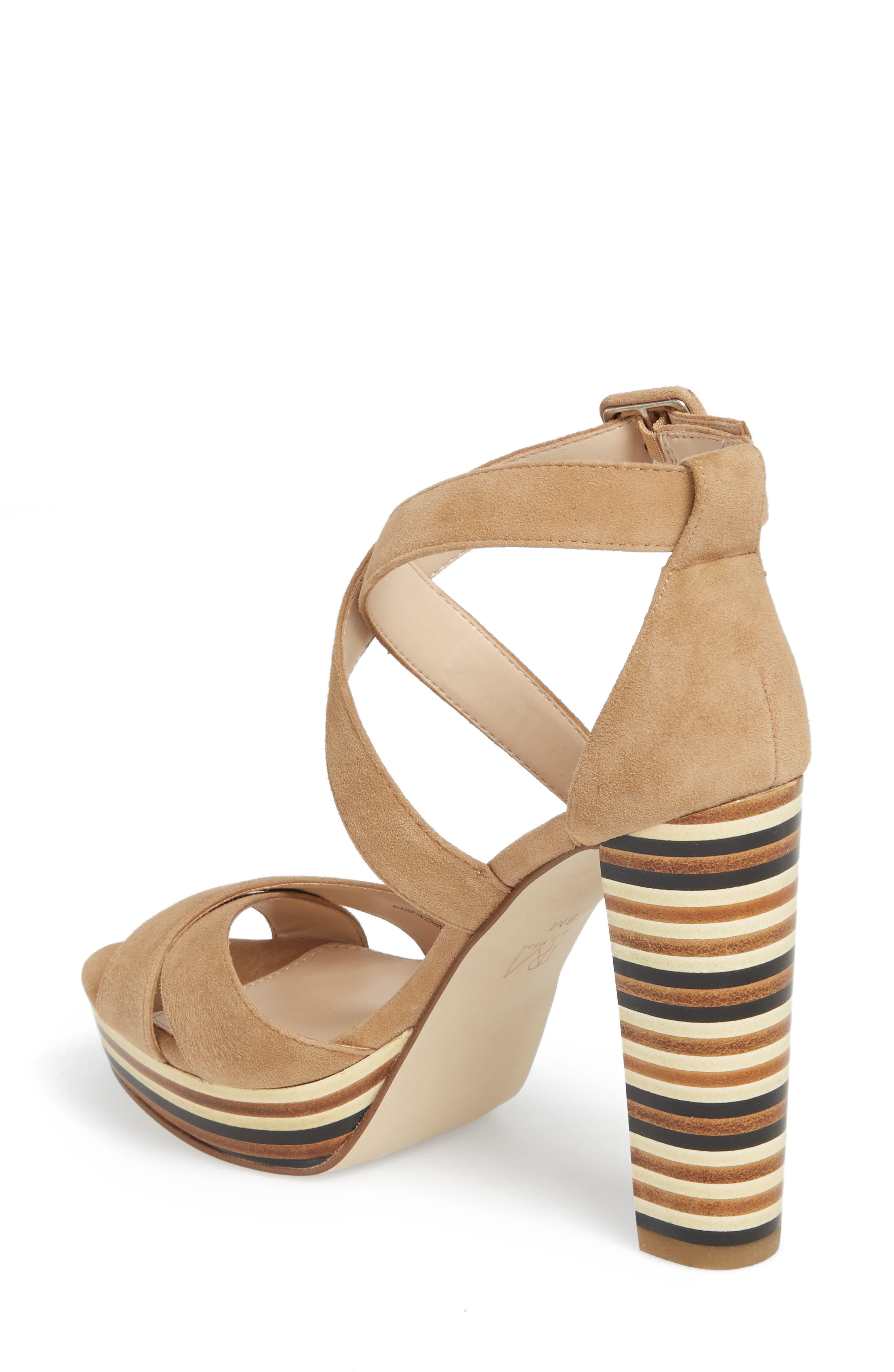 Panama Platform Sandal,                             Alternate thumbnail 2, color,                             LATTE SUEDE