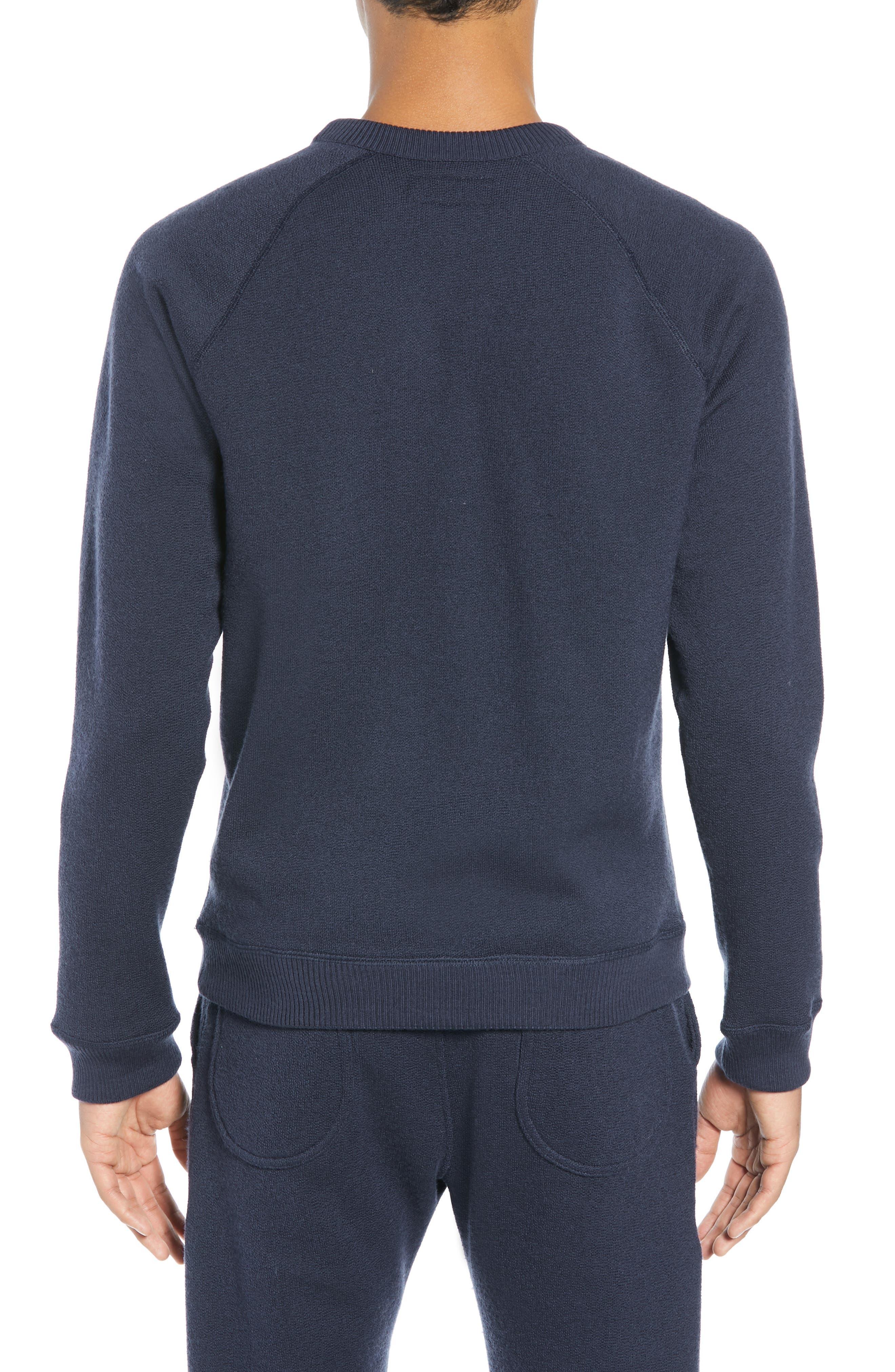 The Merino Wool Fleece Crew Sweatshirt,                             Alternate thumbnail 3, color,                             NAVY
