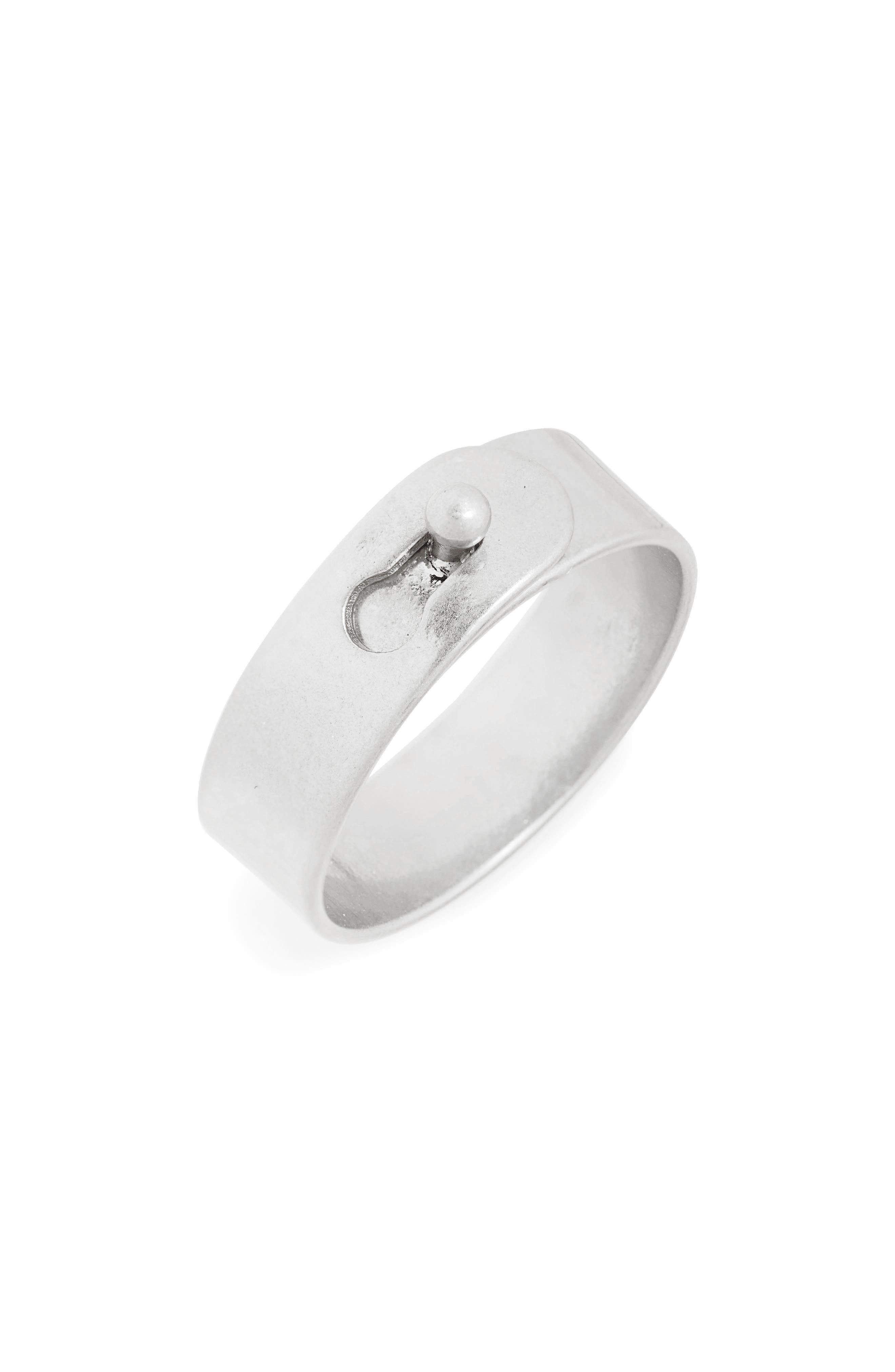 Glider Ring,                             Main thumbnail 1, color,                             LIGHT SILVER OX