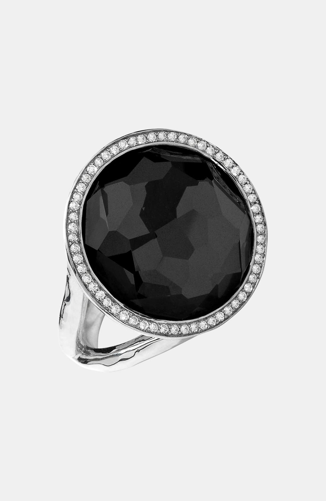 'Stella - Lollipop' Cocktail Ring,                             Alternate thumbnail 4, color,                             SILVER/ HEMATITE