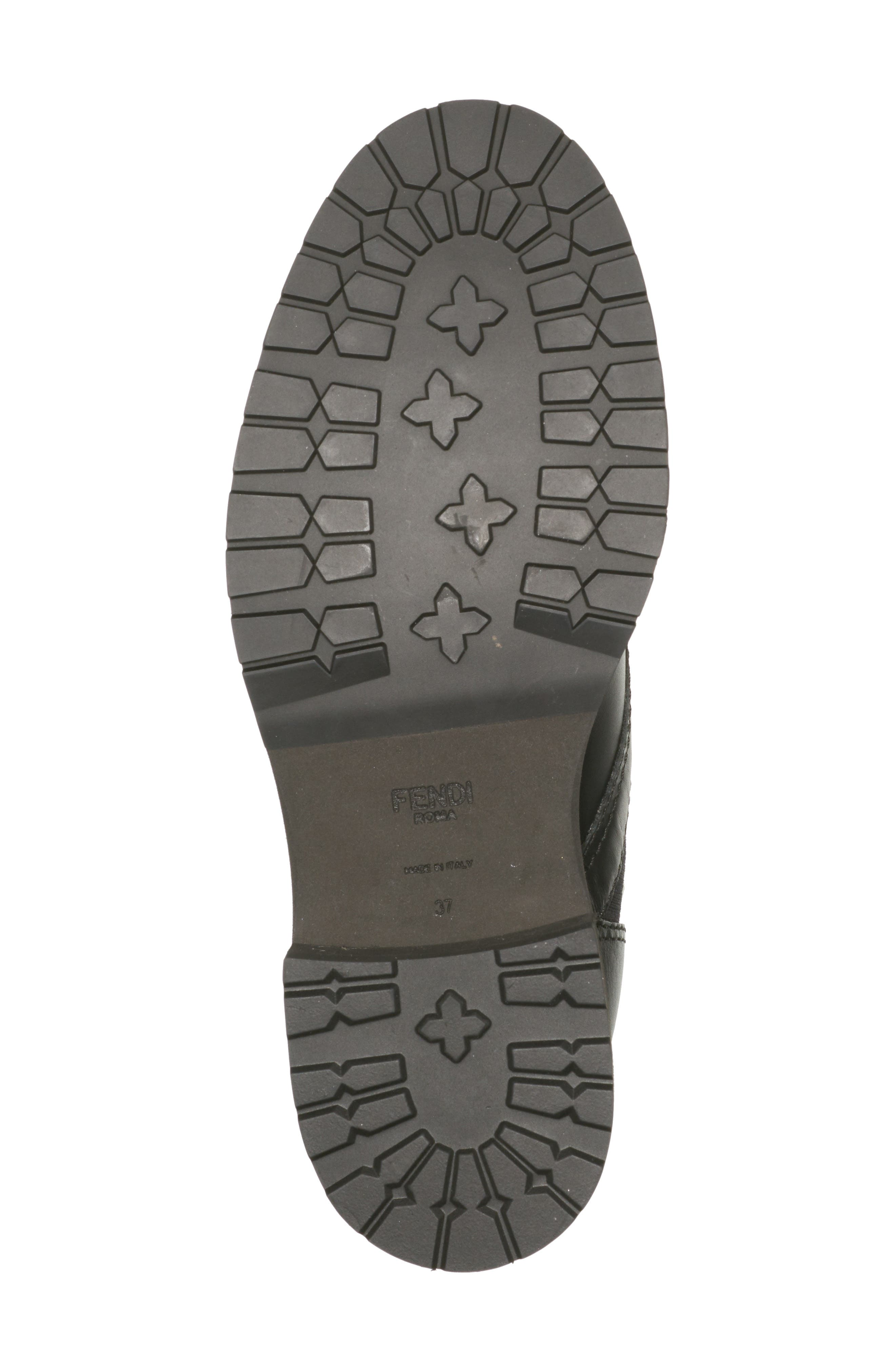 FENDI,                             Rockoko Chelsea Sock Combat Boot,                             Alternate thumbnail 5, color,                             004