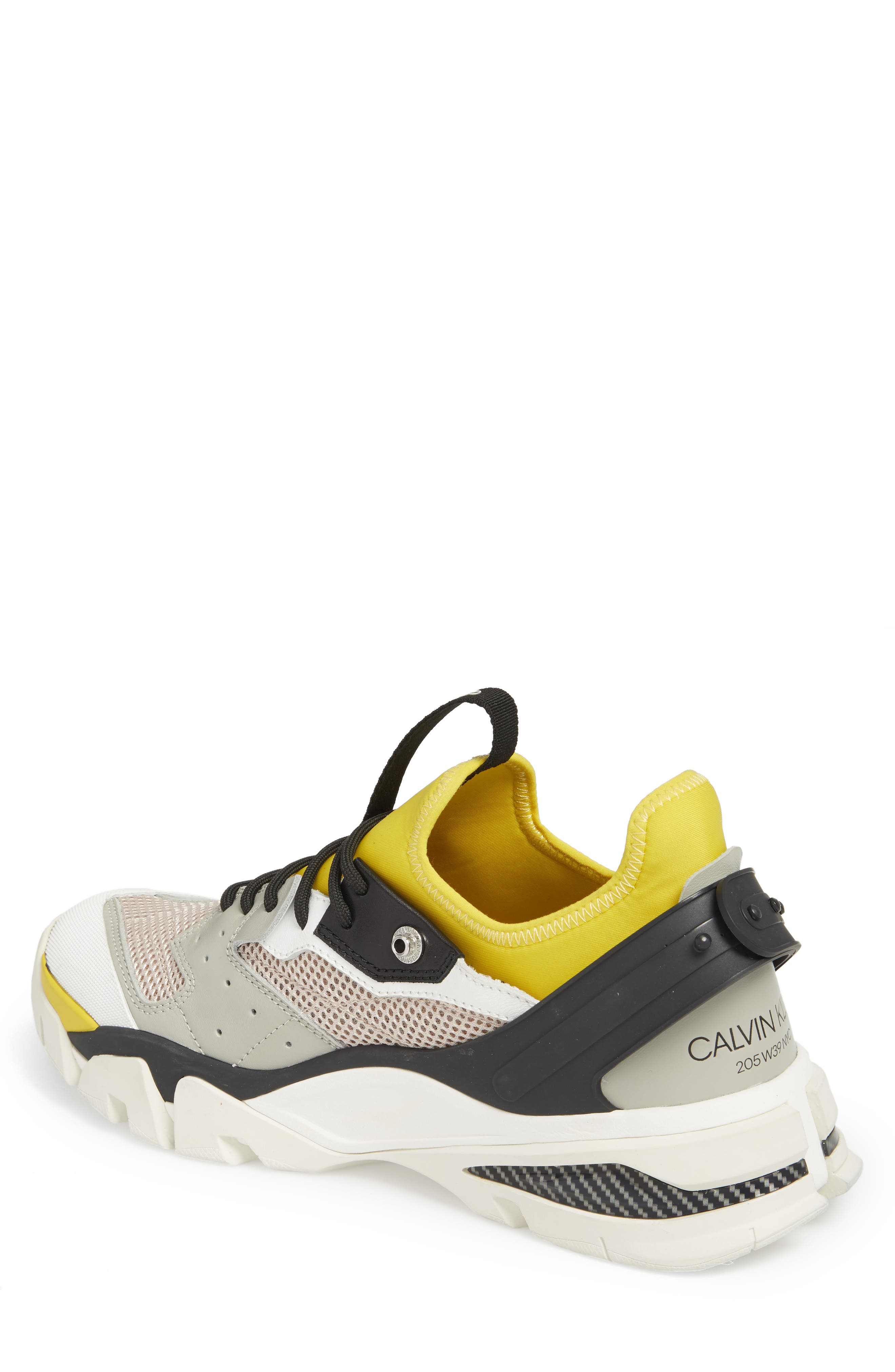 Carlos 10 Snapback Runner Sneaker,                             Alternate thumbnail 2, color,                             GREY/ YELLOW/ BLACK/ WHITE
