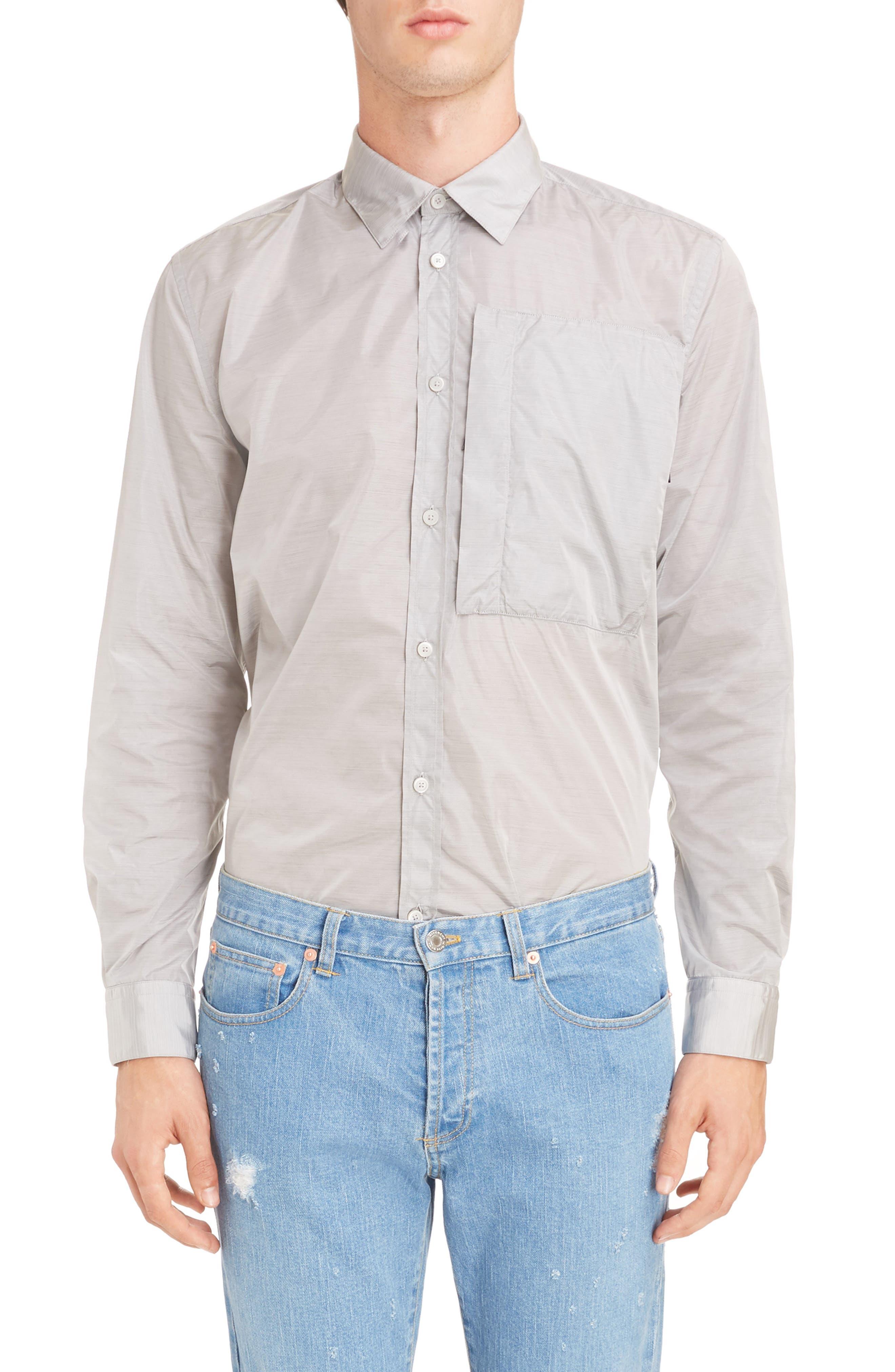 Nylon Woven Shirt,                             Main thumbnail 1, color,                             055