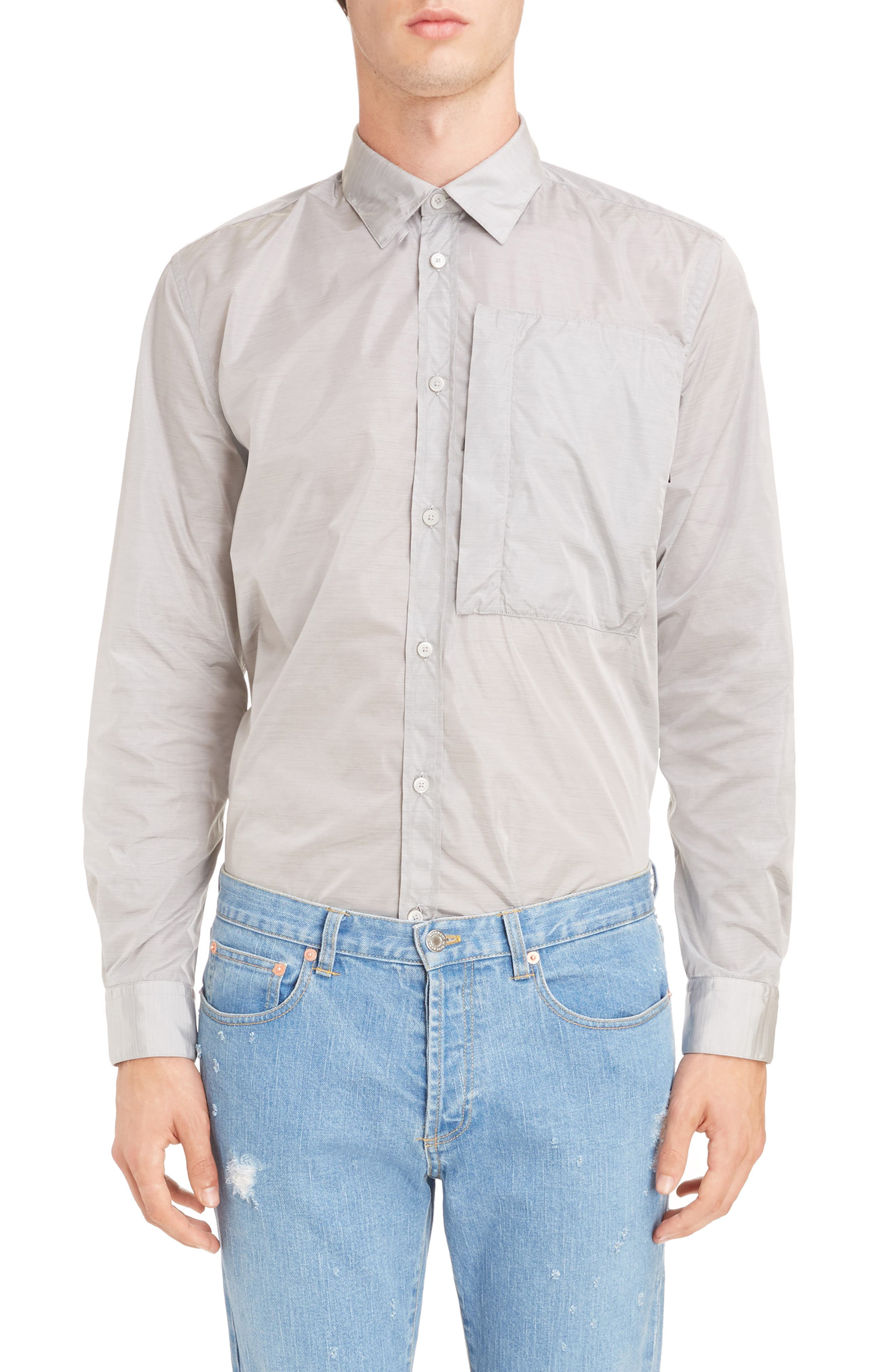 Nylon Woven Shirt,                         Main,                         color, 055