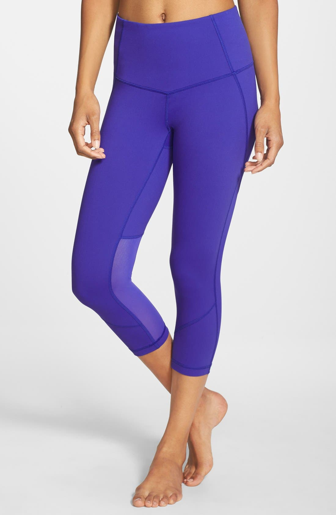 'Live In - Sultry' High Waist Mesh Crop Leggings,                             Alternate thumbnail 31, color,