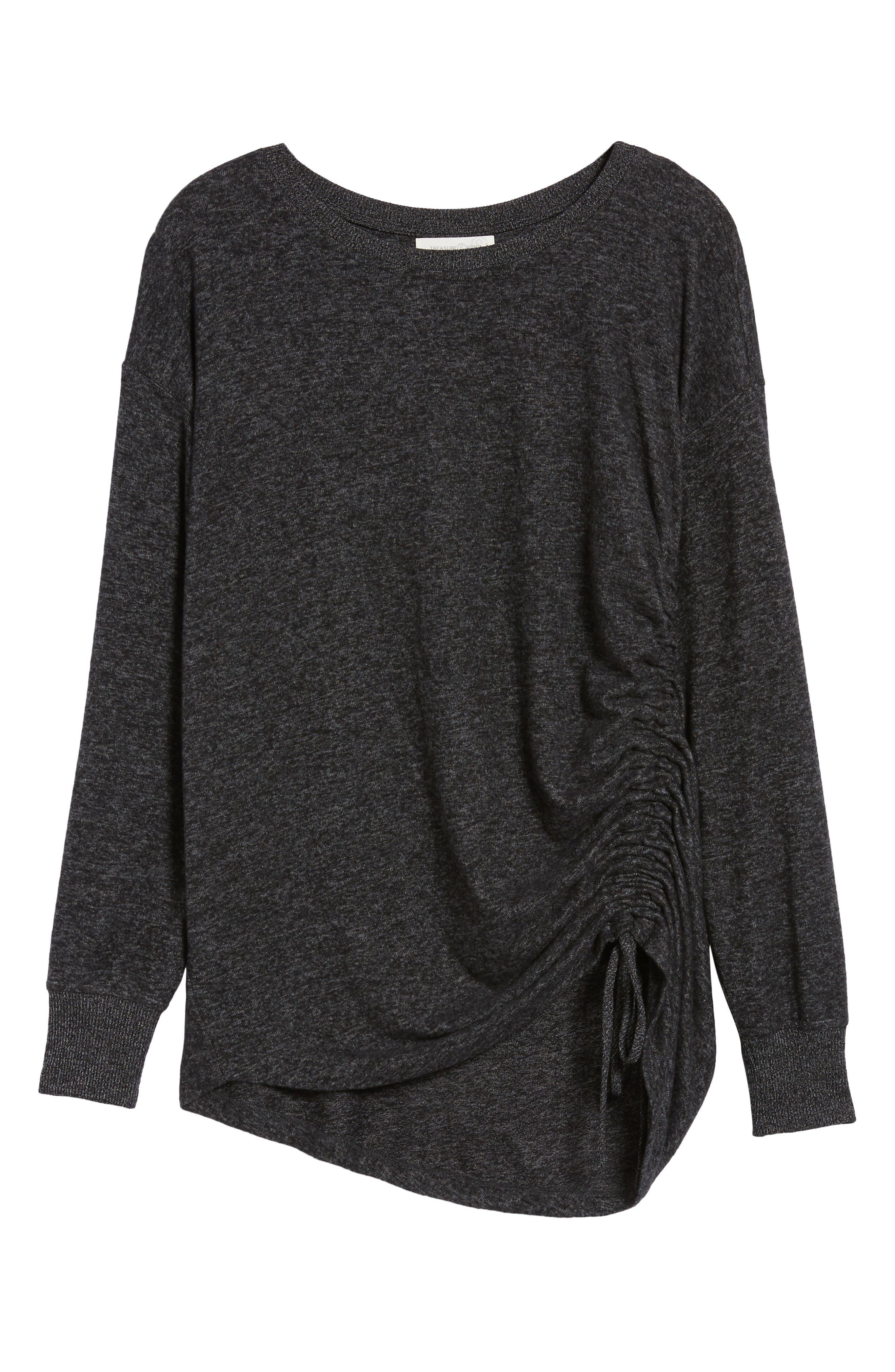 Side Cinch Sweatshirt,                             Alternate thumbnail 6, color,                             020
