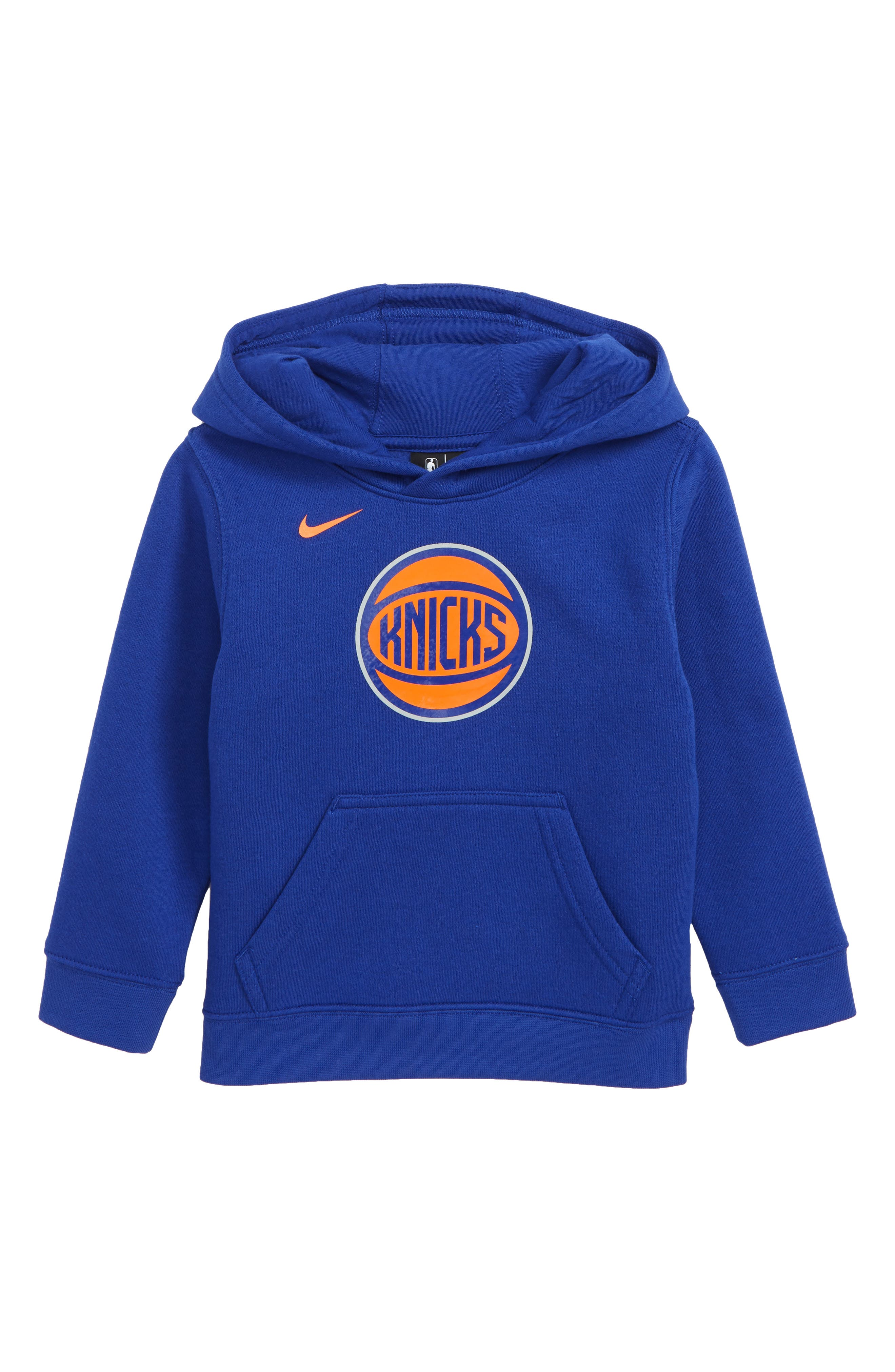New York Knicks Hoodie,                             Main thumbnail 1, color,                             RUSH BLUE