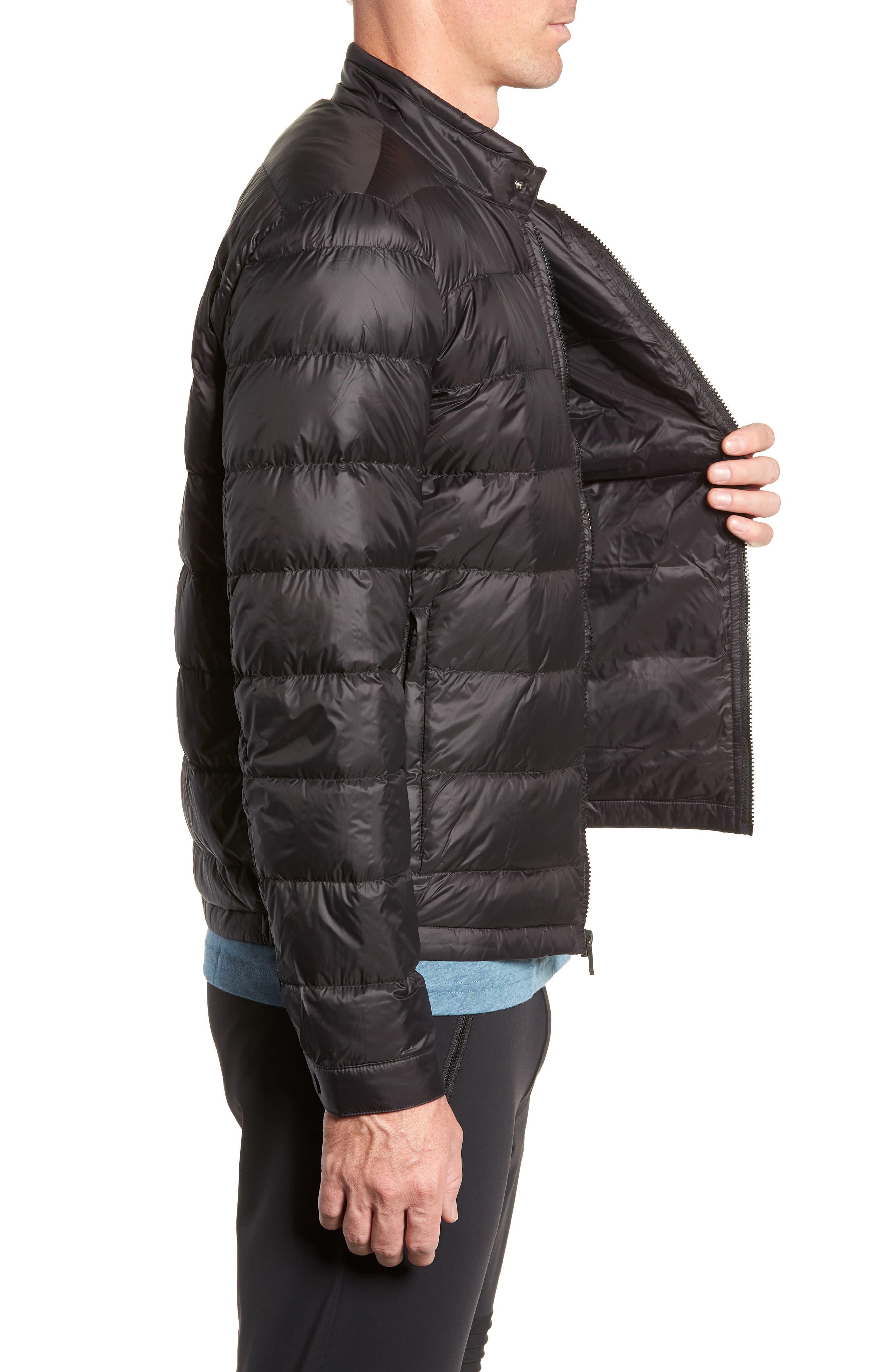 Puffer Jacket,                             Alternate thumbnail 3, color,                             BLACK