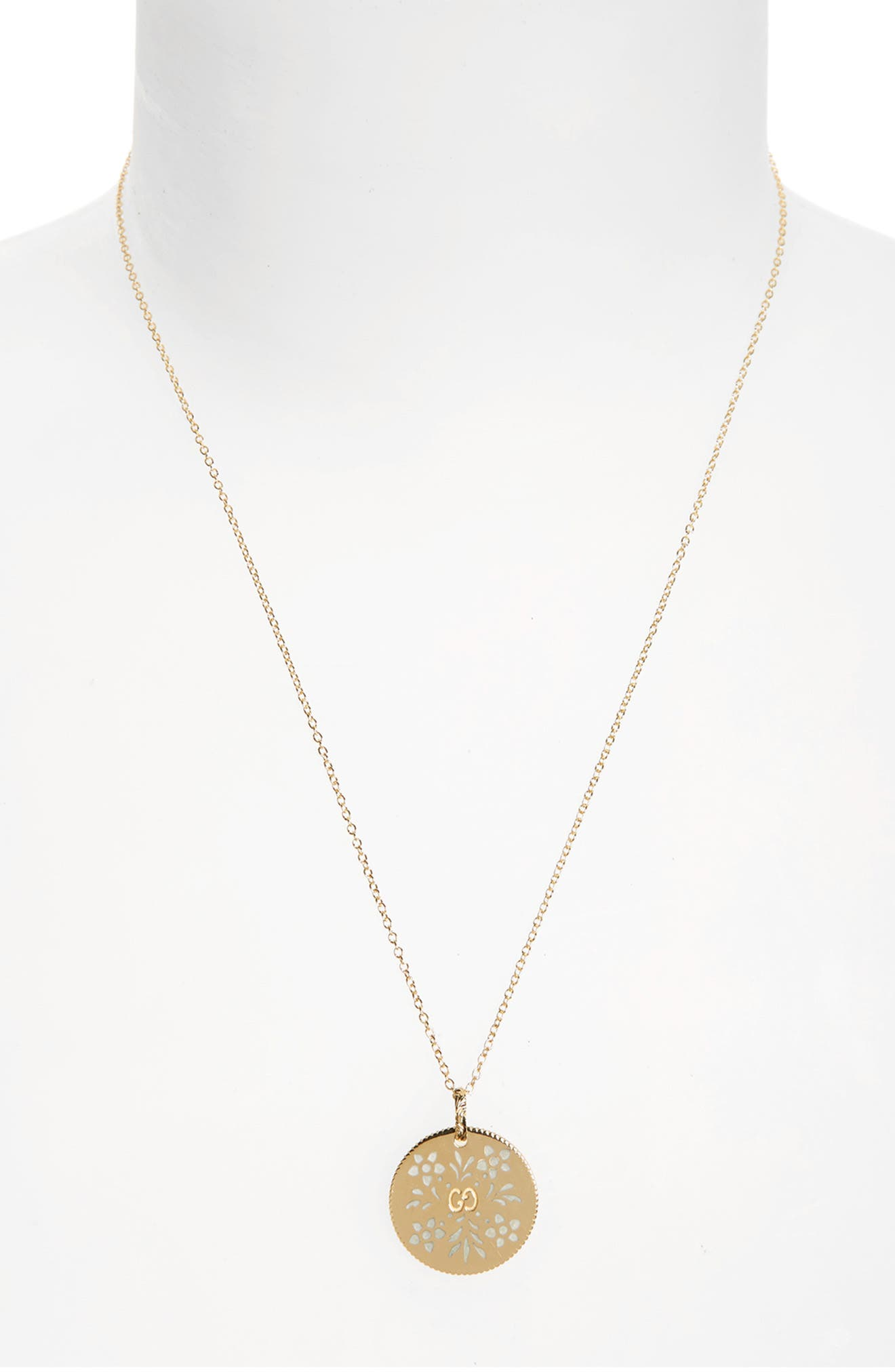 Icon Blooms Pendant Necklace,                             Alternate thumbnail 2, color,                             YELLOW GOLD