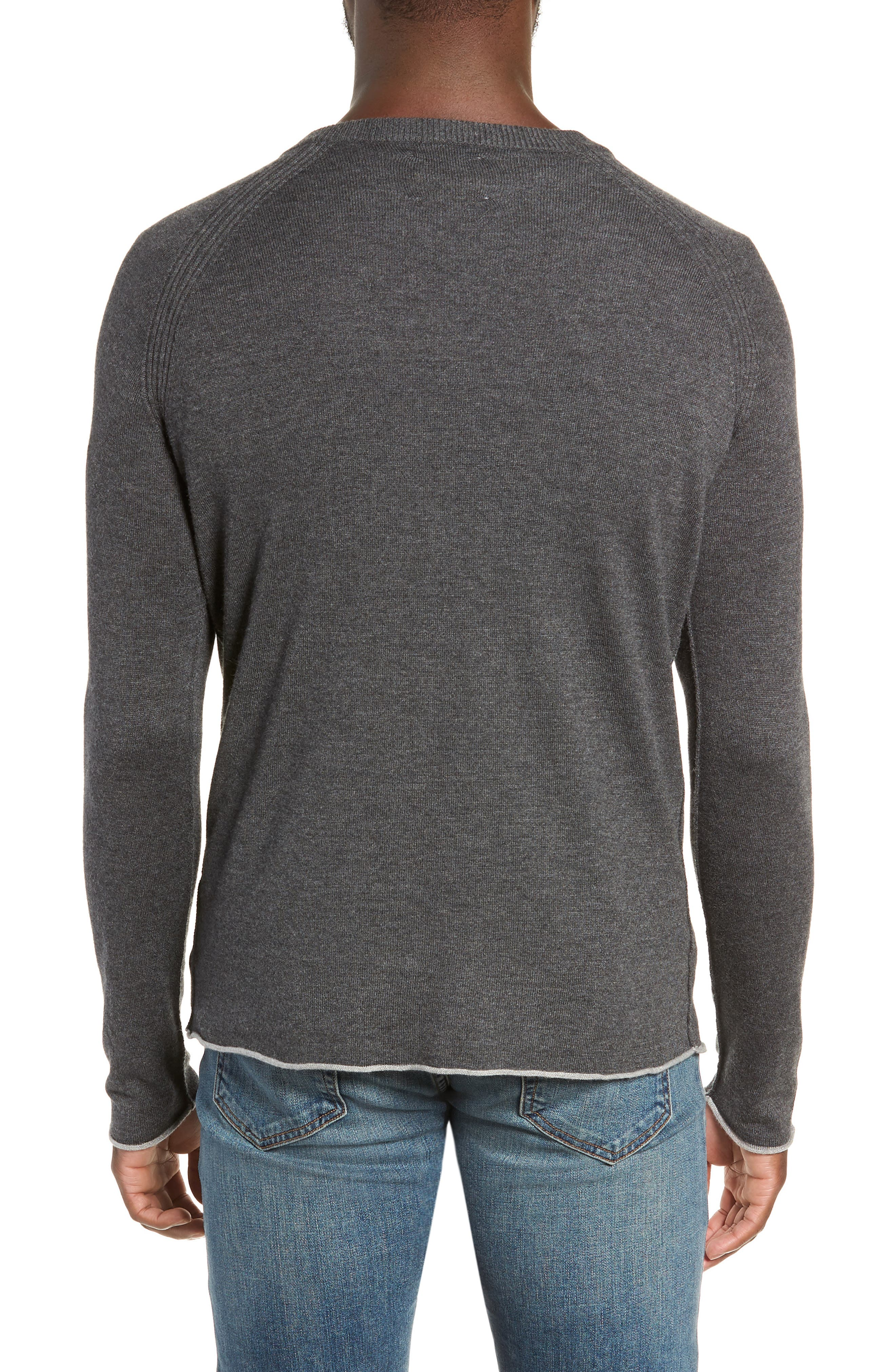 Salinas Cash V-Neck Sweater,                             Alternate thumbnail 2, color,                             CHARCOAL HEATHER