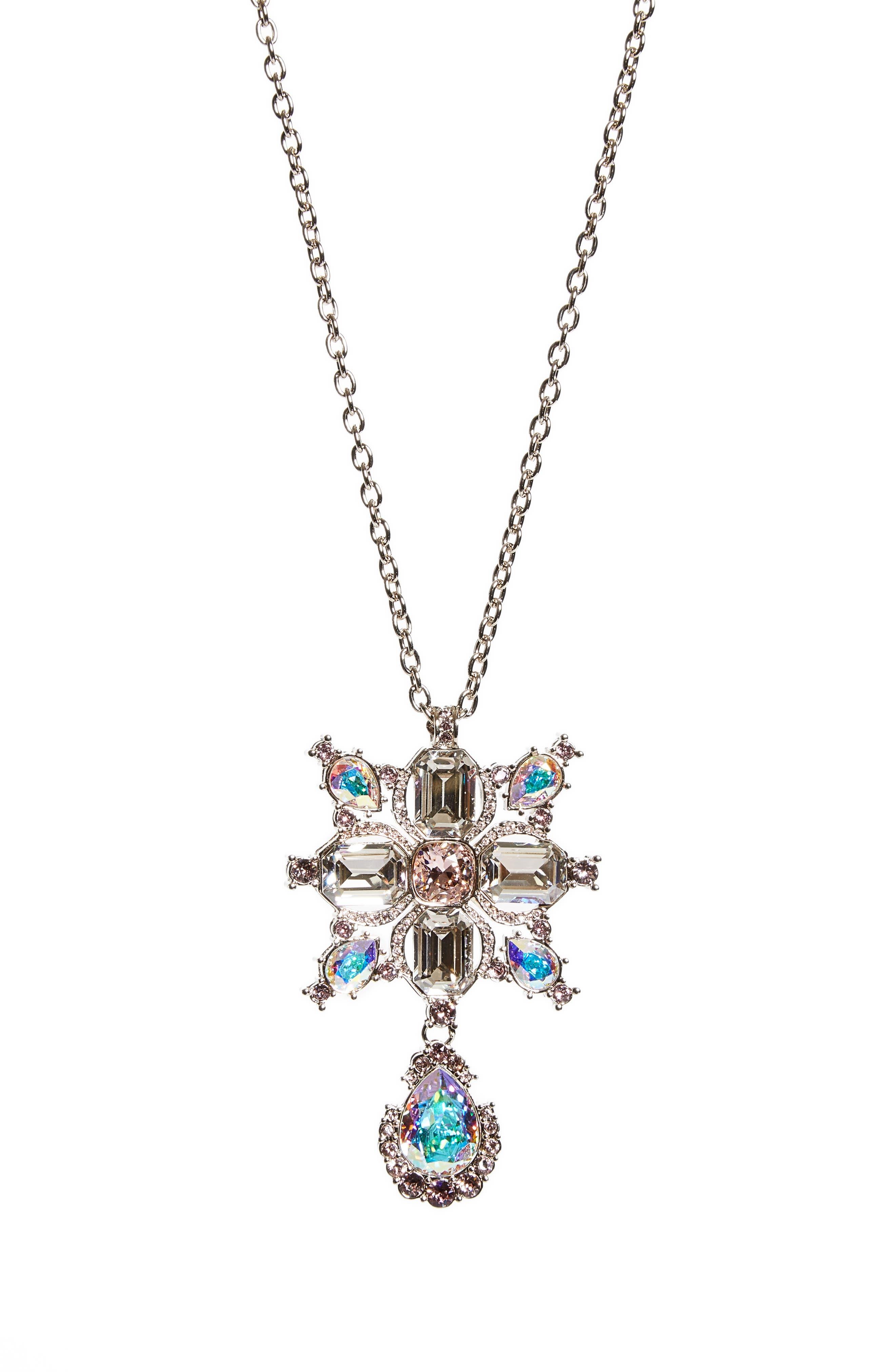 Swarovski Crystal Pendant Necklace,                         Main,                         color, 710