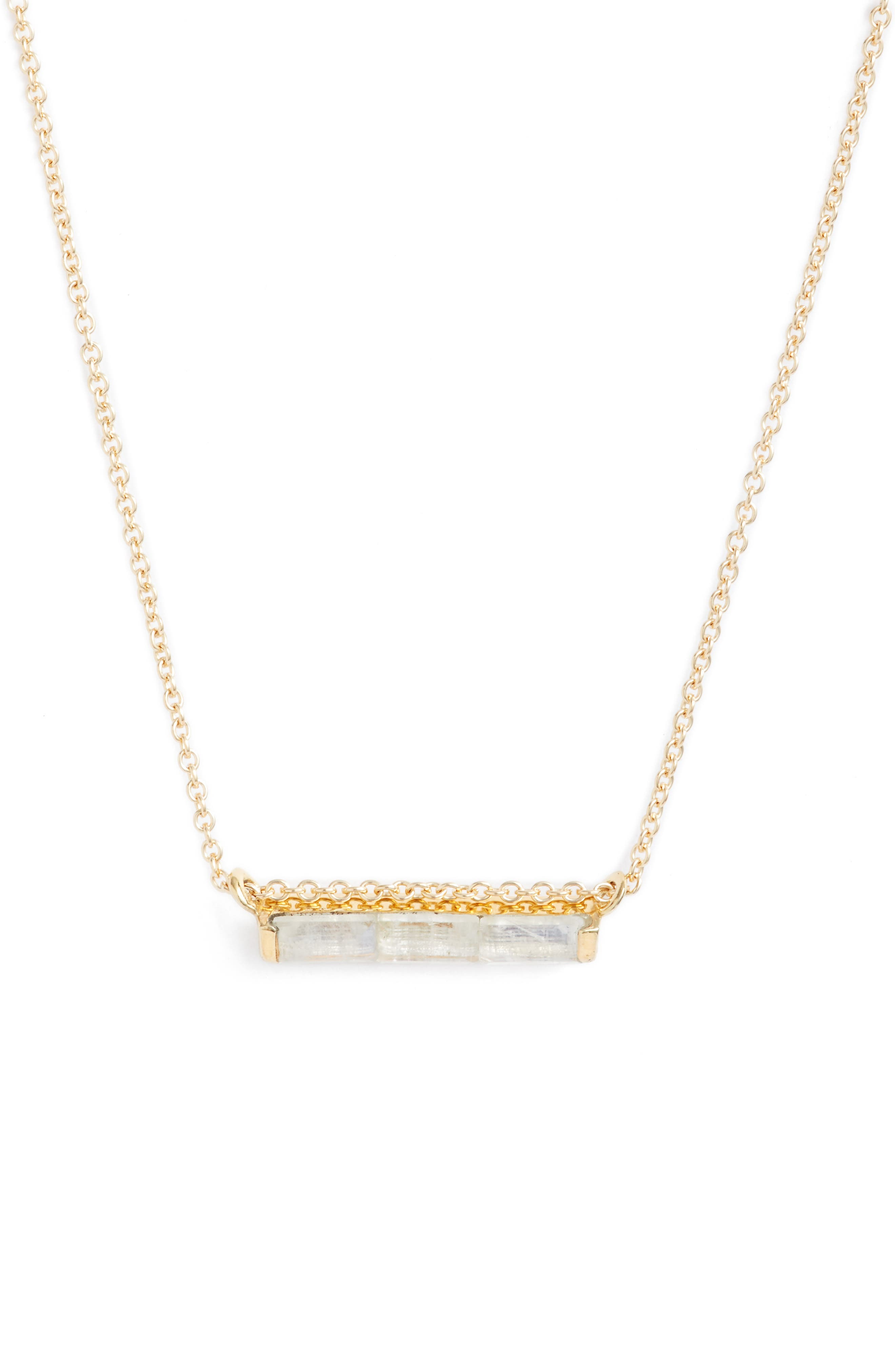 Channel Set Semiprecious Stone Necklace,                             Main thumbnail 3, color,