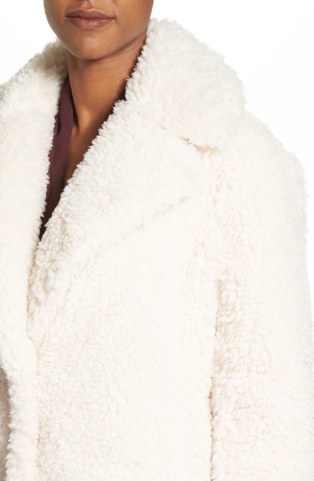 'Teddy Bear' Notch Collar Reversible Faux Fur Coat,                             Alternate thumbnail 24, color,