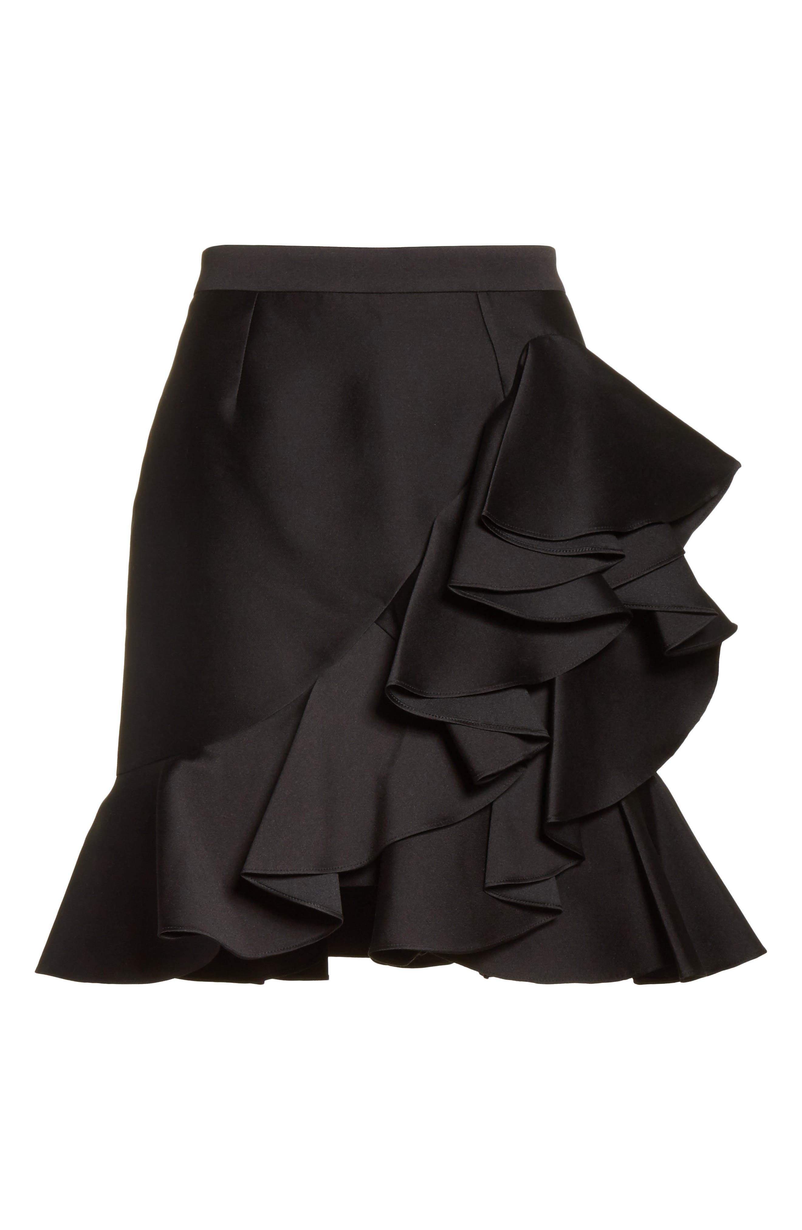 Ruffle Mini Skirt,                             Alternate thumbnail 6, color,