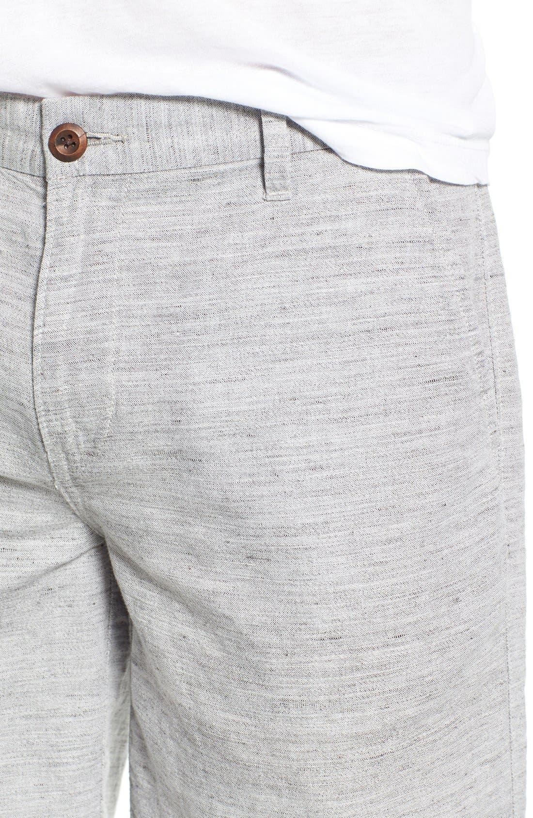 'Thompson' Slim Fit Shorts,                             Alternate thumbnail 4, color,                             020