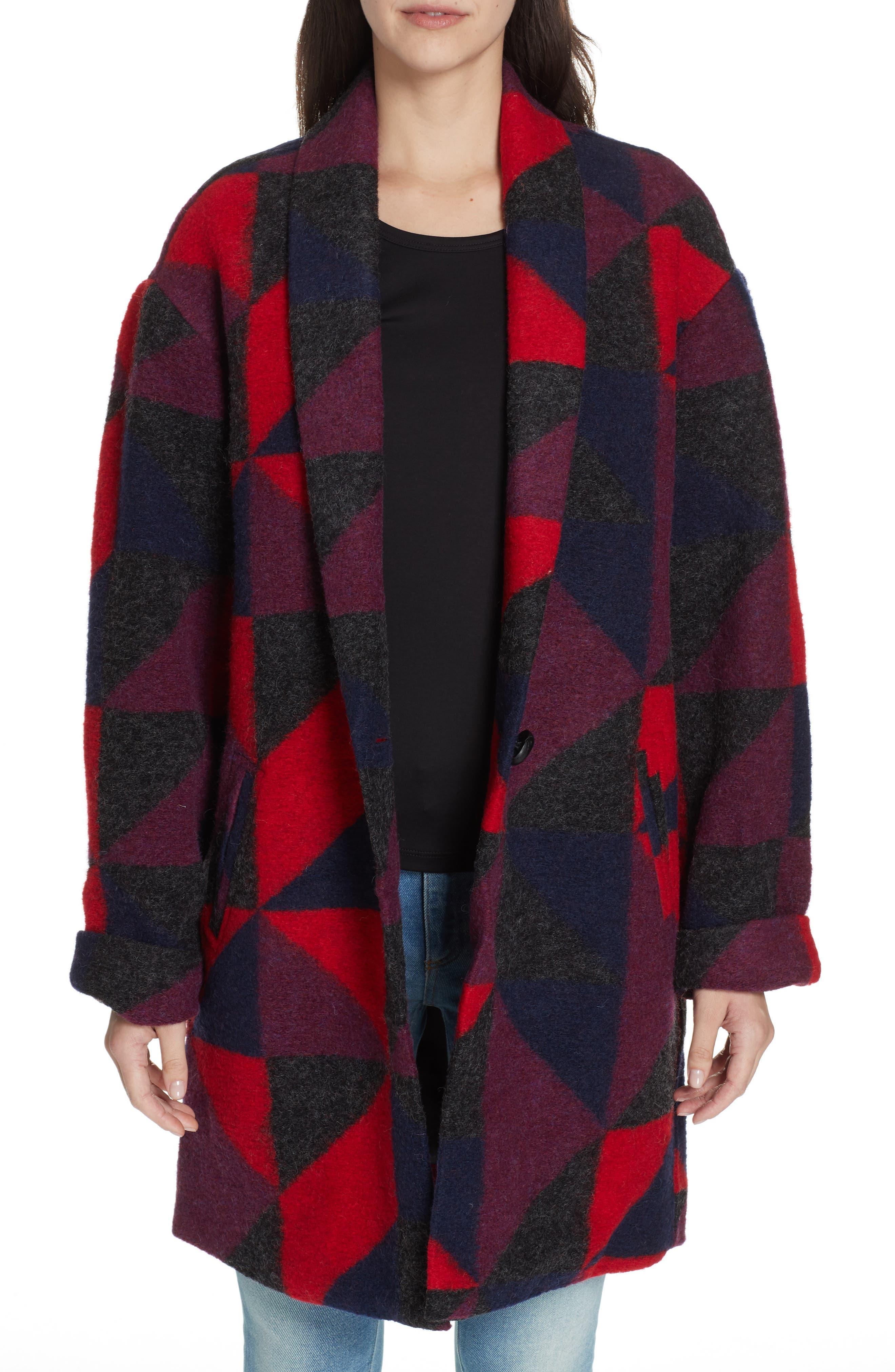Halona Blanket Coat,                             Main thumbnail 1, color,                             002
