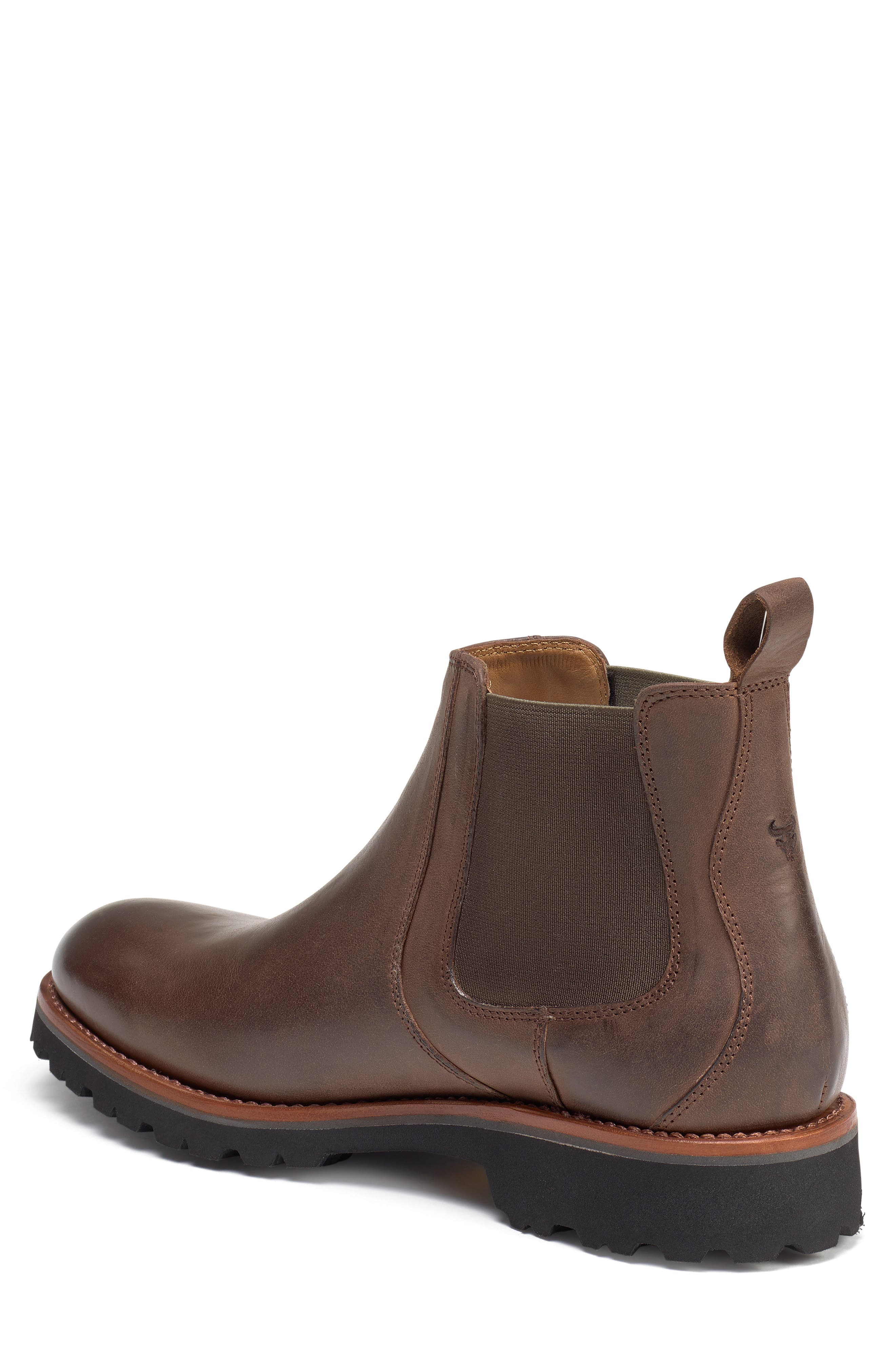 Hastings Lugged Chelsea Boot,                             Alternate thumbnail 2, color,                             BROWN LEATHER