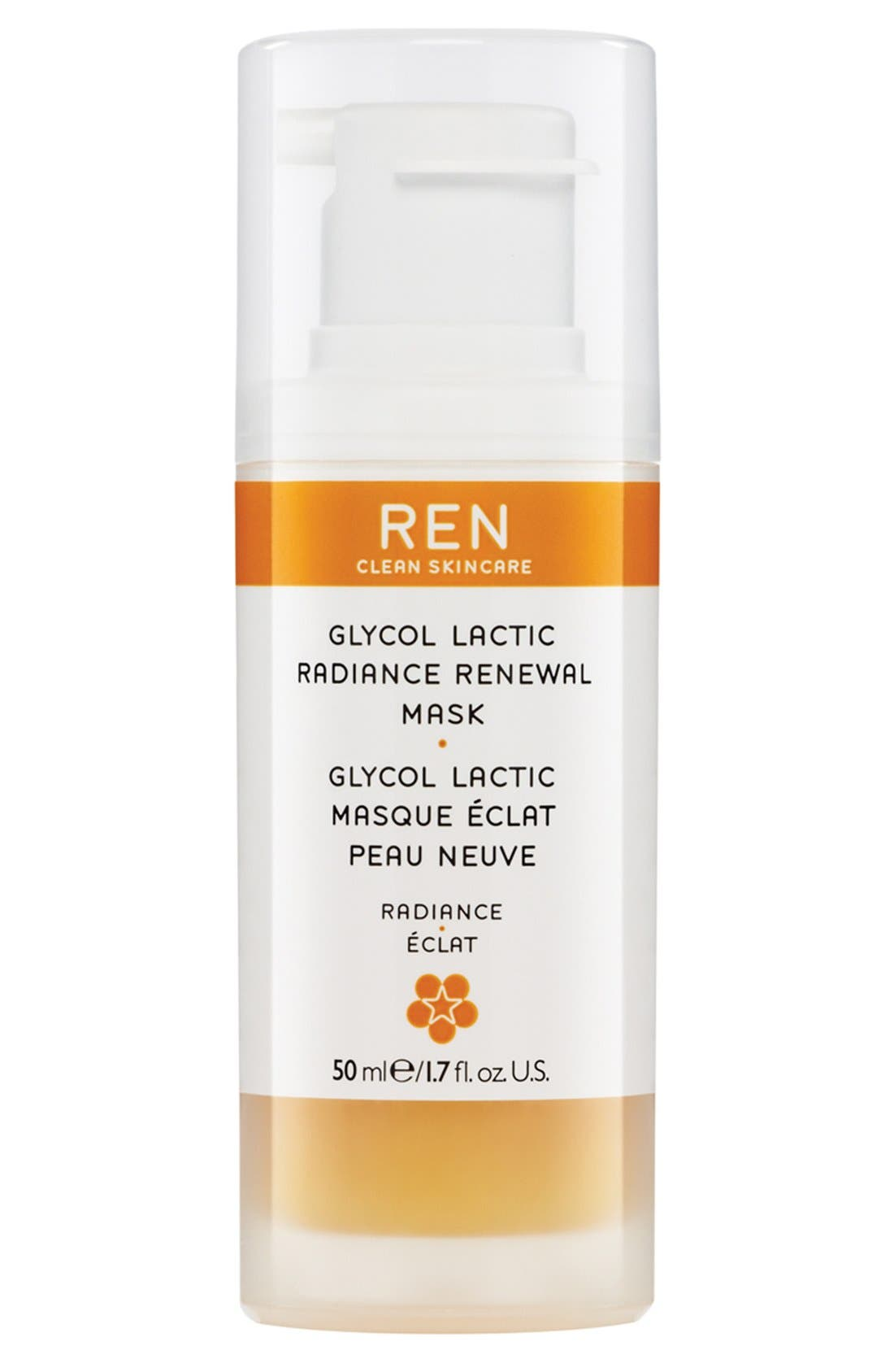 SPACE.NK.apothecary REN Glycol Lactic Radiance Renewal Mask,                             Main thumbnail 1, color,                             NO COLOR