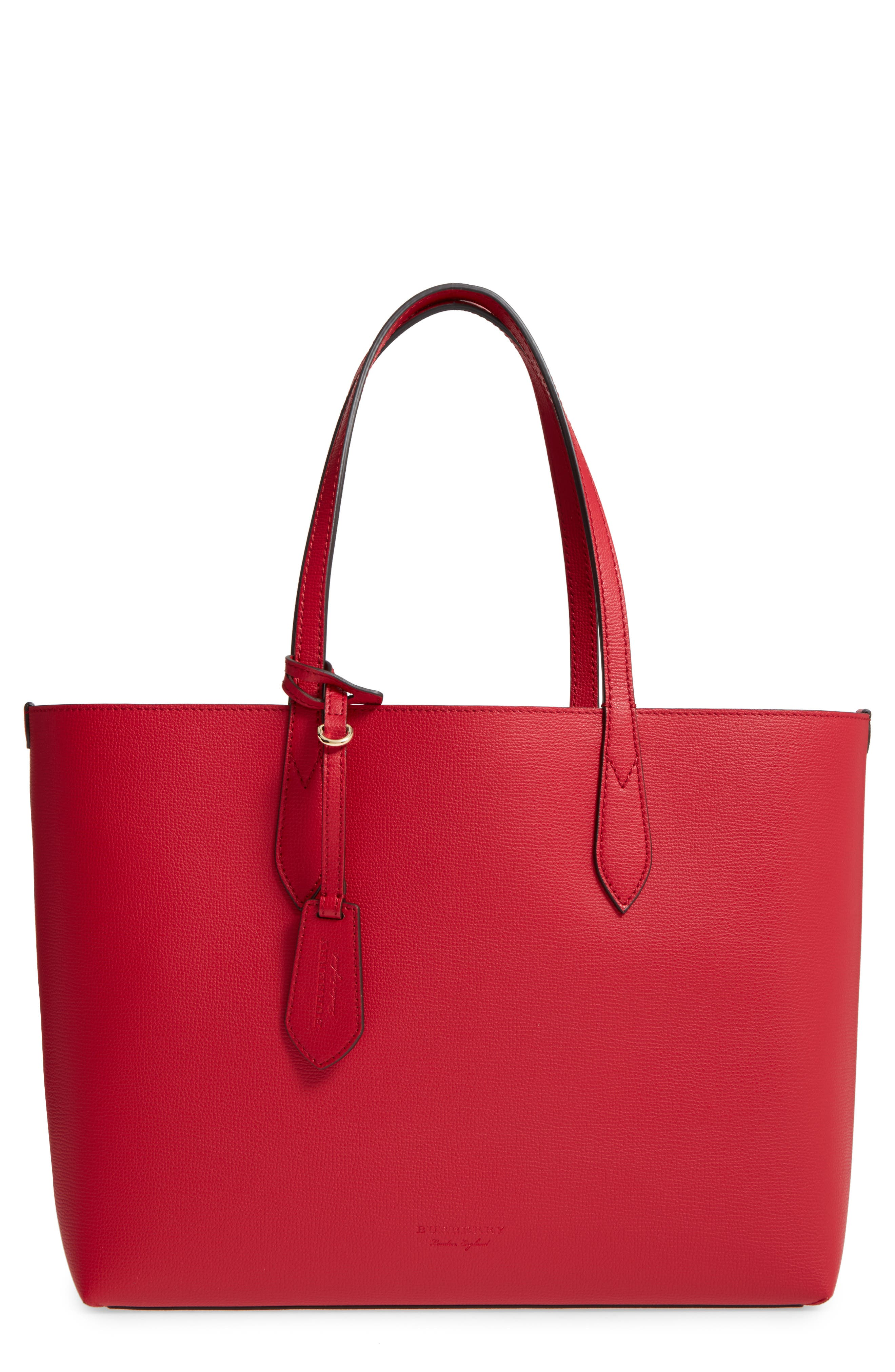Reversible Leather Tote,                         Main,                         color, 613