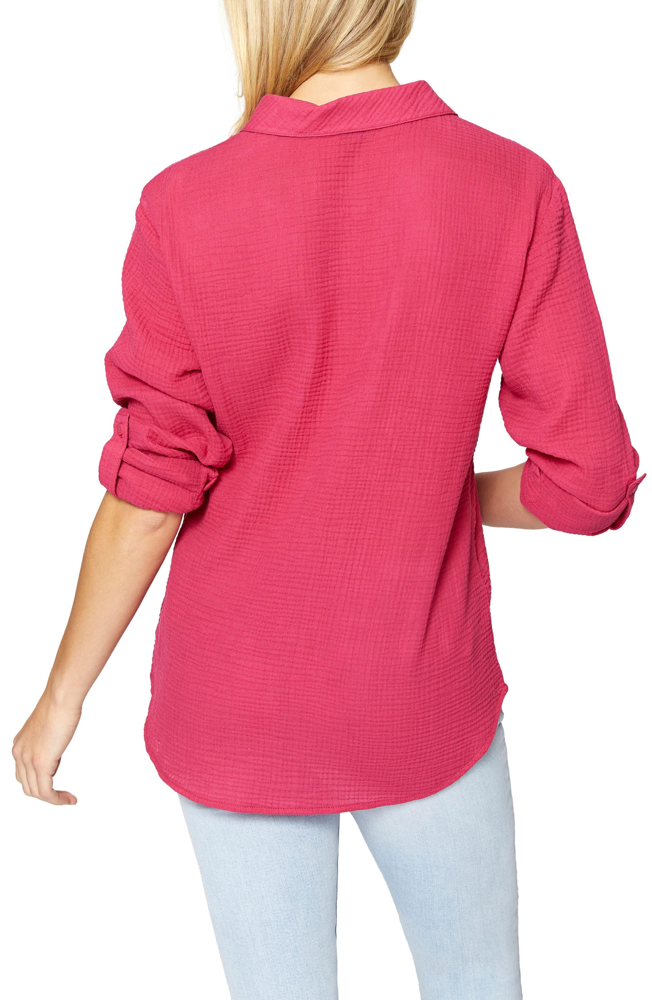 Steady Boyfriend Roll Tab Shirt,                             Alternate thumbnail 9, color,