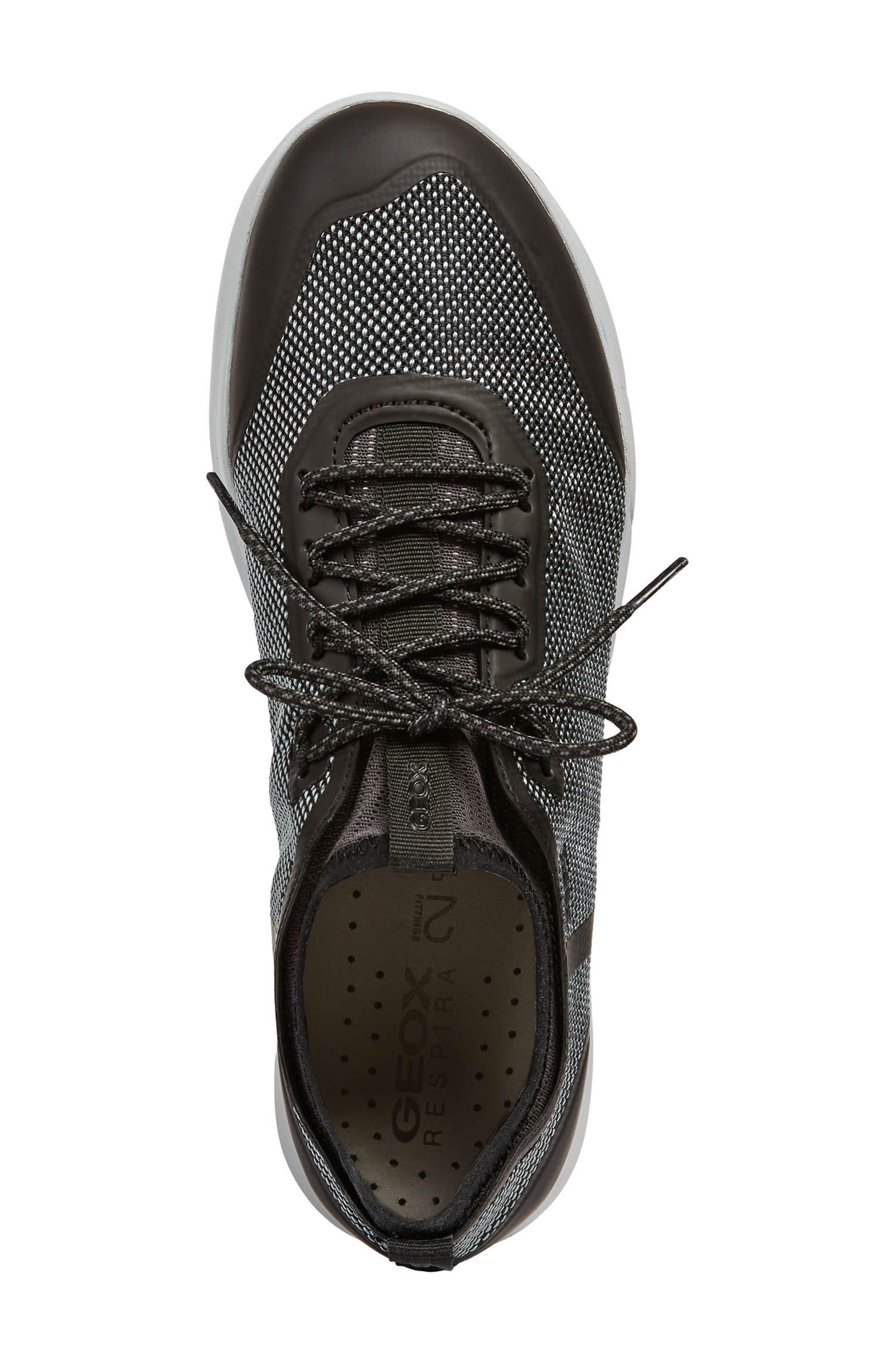 Nebula X 3 Low Top Sneaker,                             Alternate thumbnail 5, color,                             BLACK LEATHER