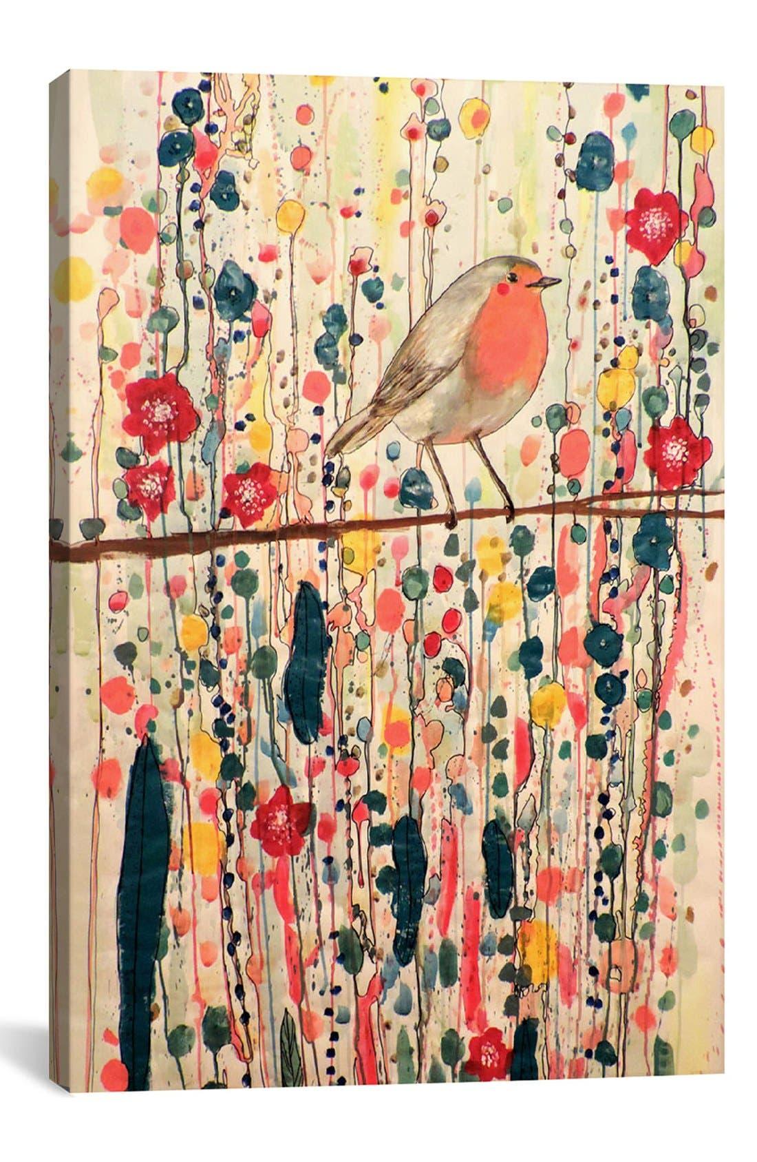 'Je Ne Suis Pas Qu'un Oiseau' Giclée Print Canvas Art,                             Main thumbnail 1, color,                             BEIGE
