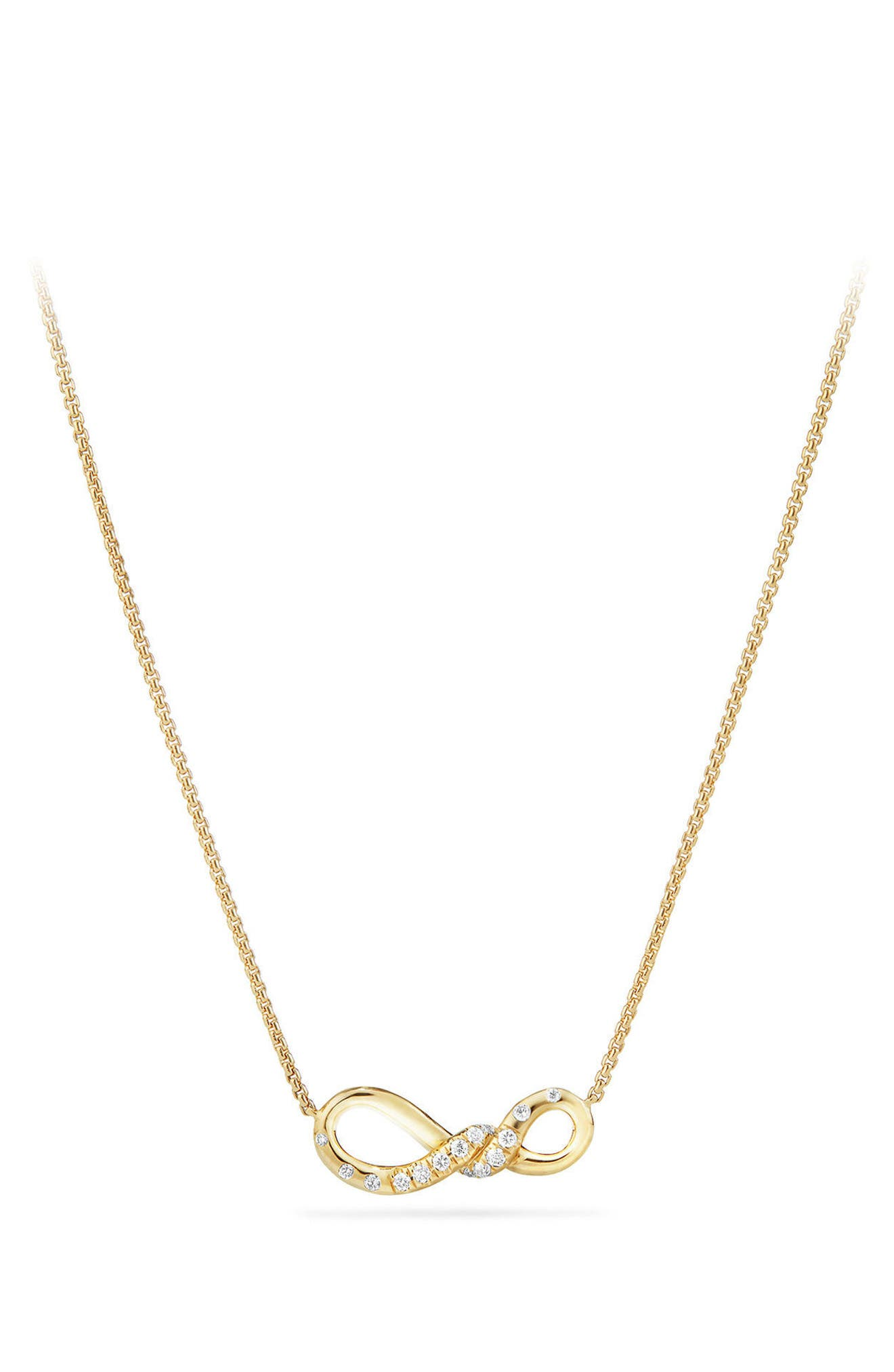 Continuance Pendant Necklace in 18K Gold with Diamonds,                             Main thumbnail 1, color,                             YELLOW GOLD