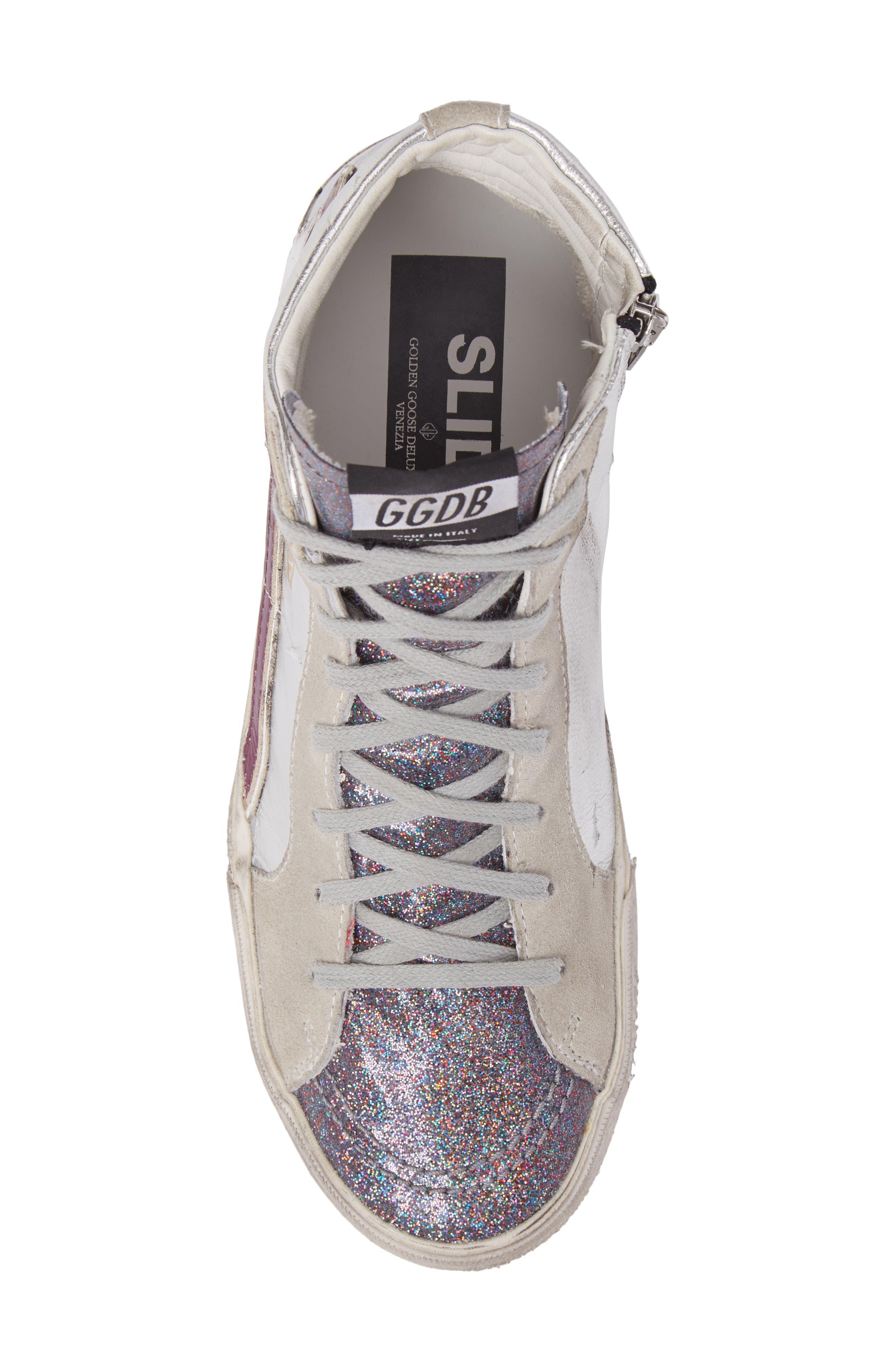 Slide High Top Sneaker,                             Alternate thumbnail 5, color,                             040