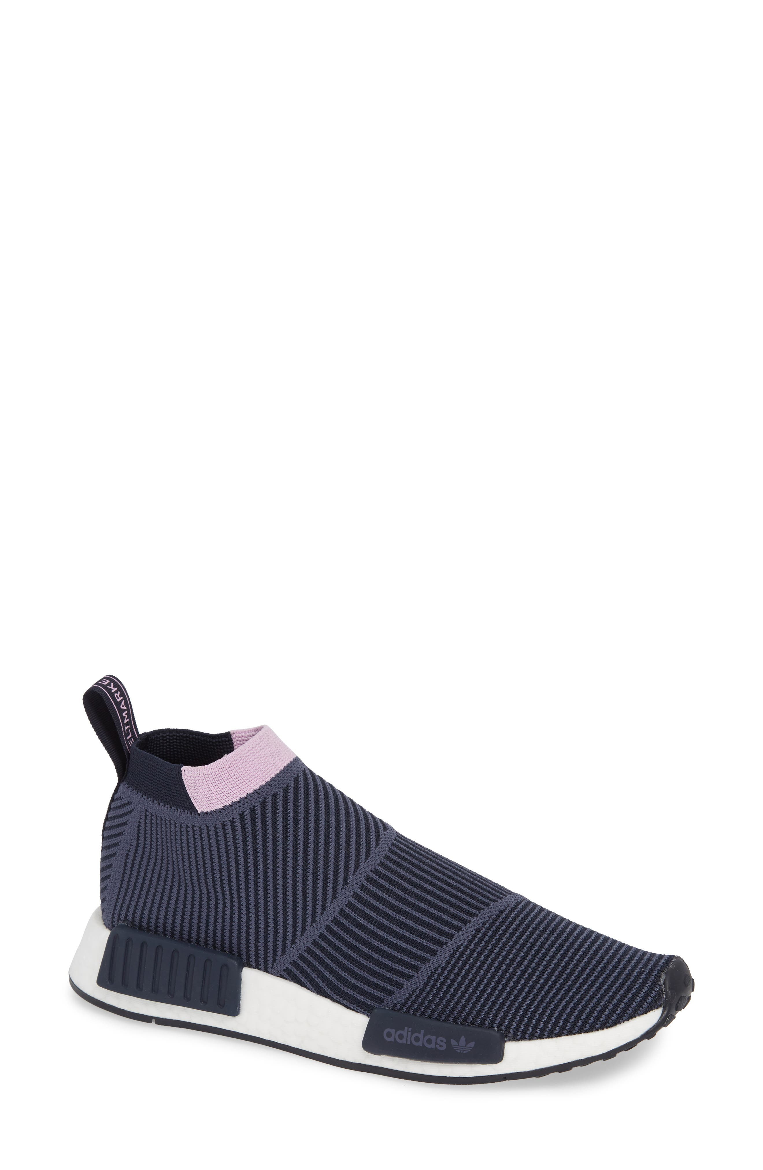 NMD_CS1 Primeknit Sneaker,                             Main thumbnail 1, color,                             LEGEND INK/ CLEAR LILAC