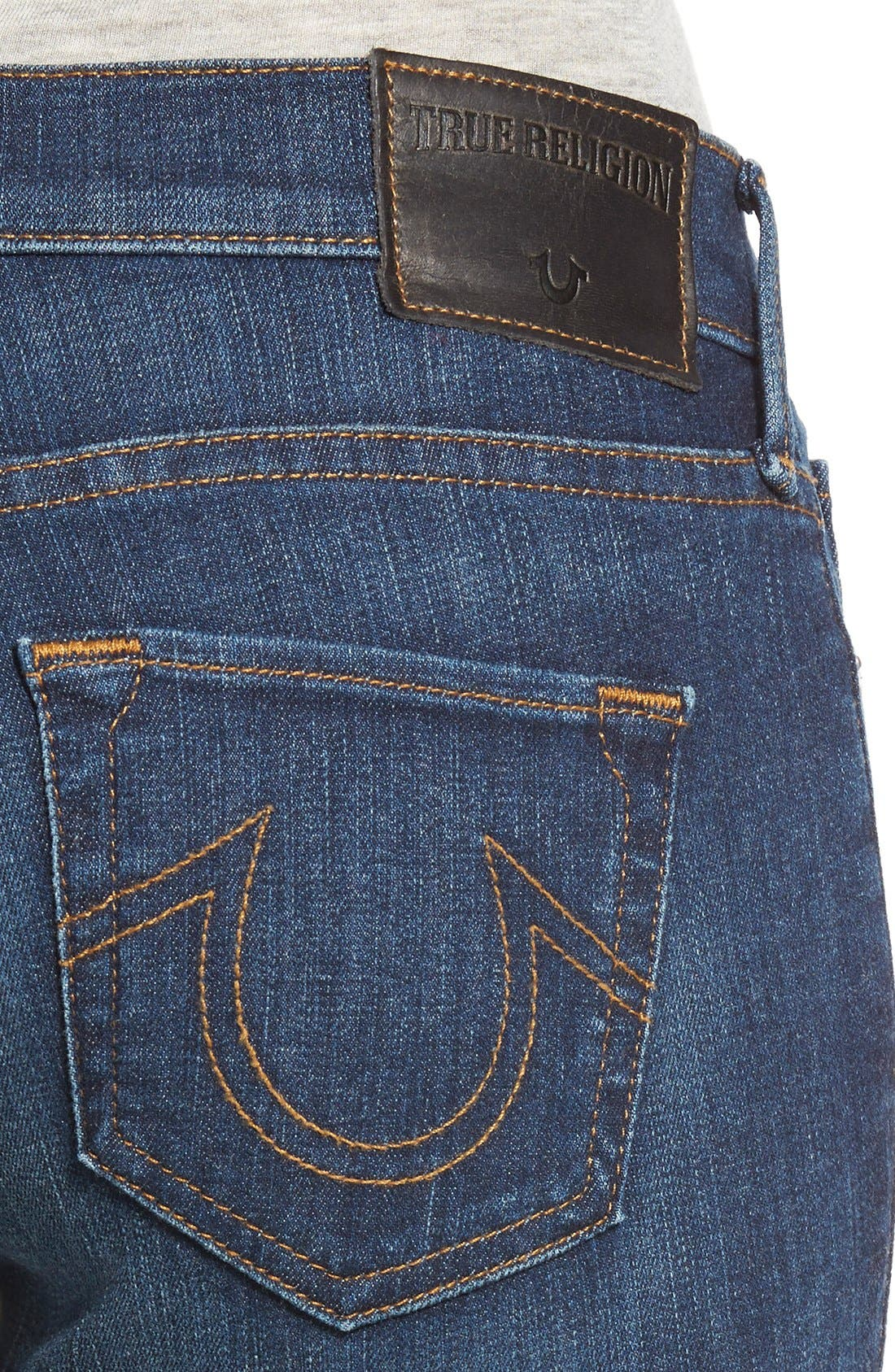 'Halle' Skinny Jeans,                             Alternate thumbnail 4, color,                             402