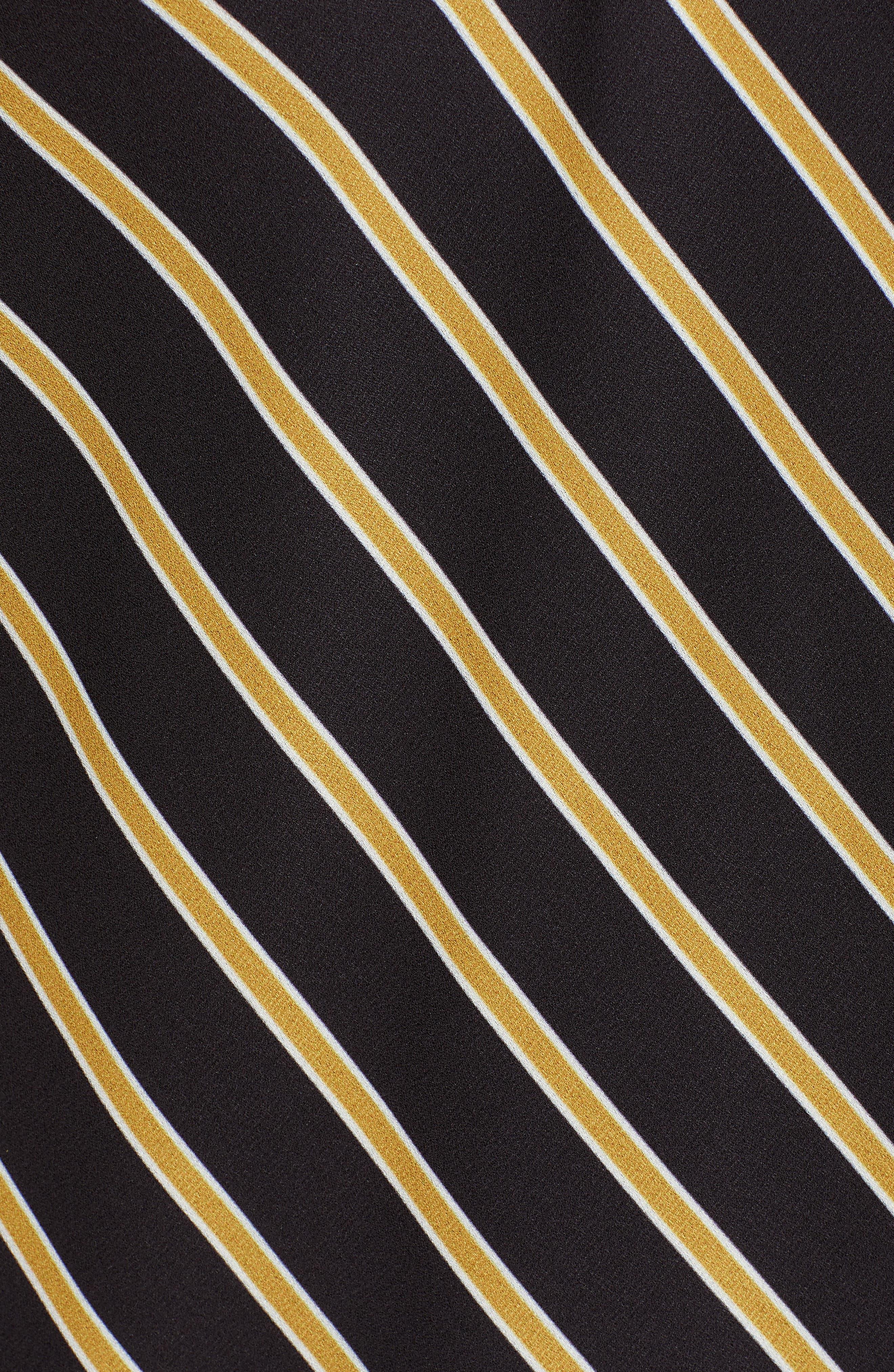 Stripe Camisole,                             Alternate thumbnail 5, color,                             BLACK MUSTARD STRIPE