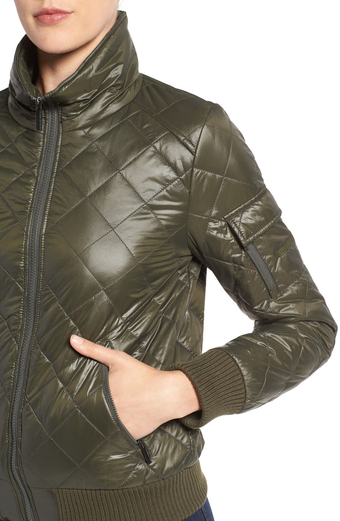 Quilted Bomber Jacket,                             Alternate thumbnail 19, color,