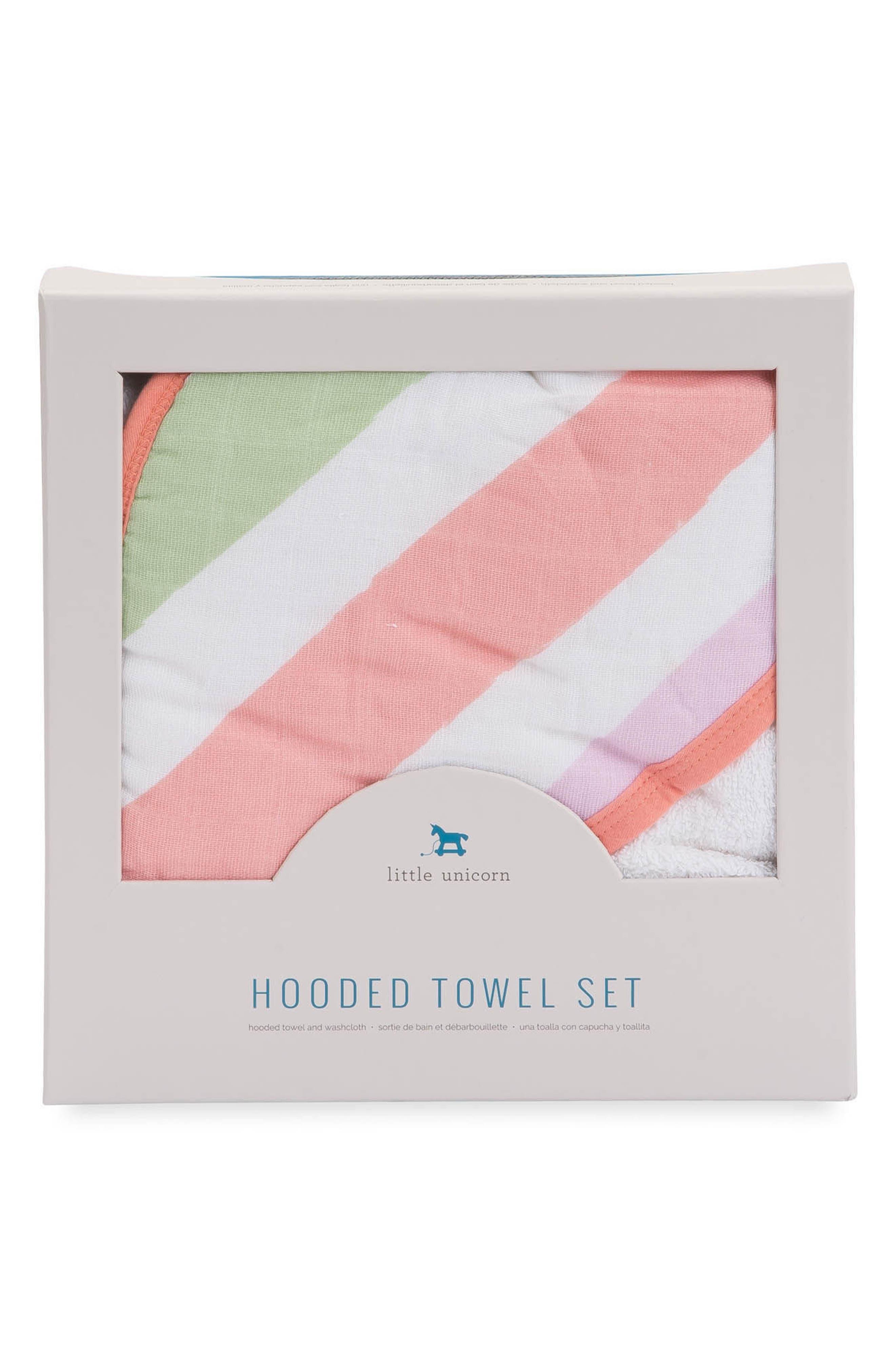 Hooded Towel & Wash Cloth Set,                             Alternate thumbnail 6, color,