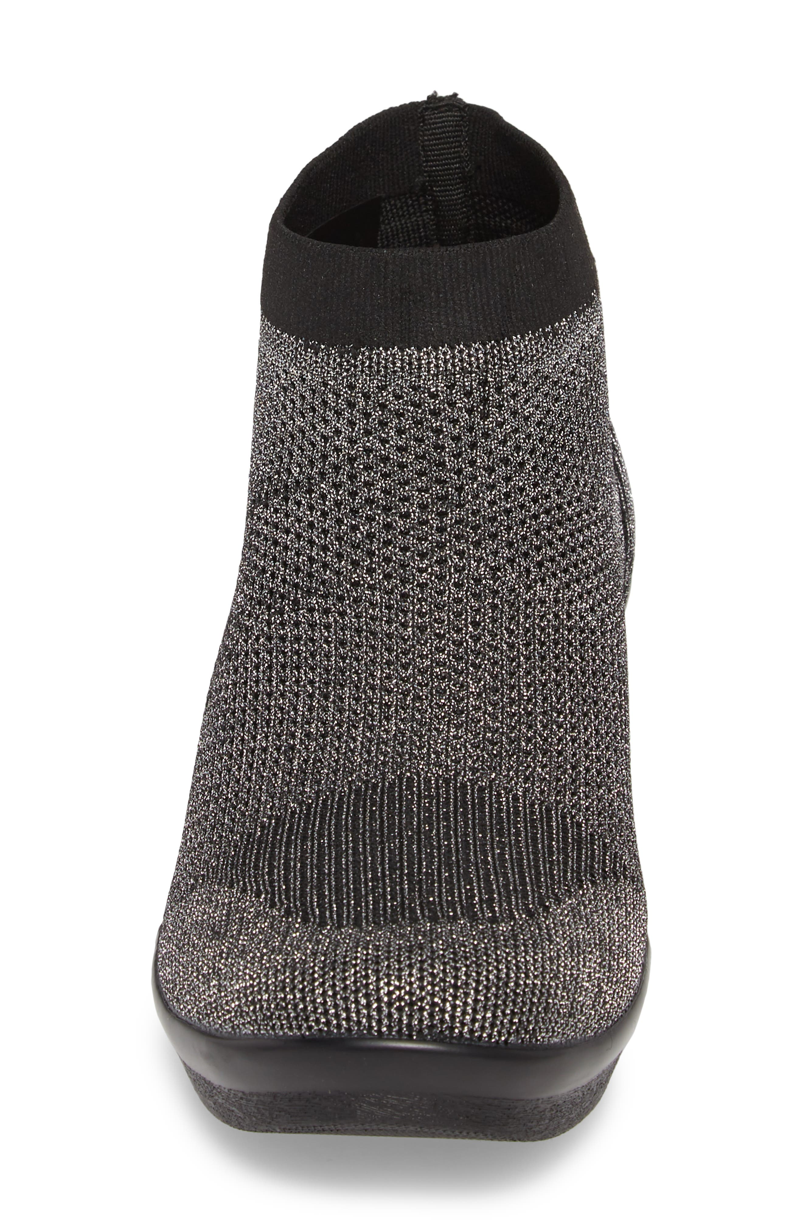 Camryn Knit Bootie,                             Alternate thumbnail 4, color,                             GUNMETAL FABRIC