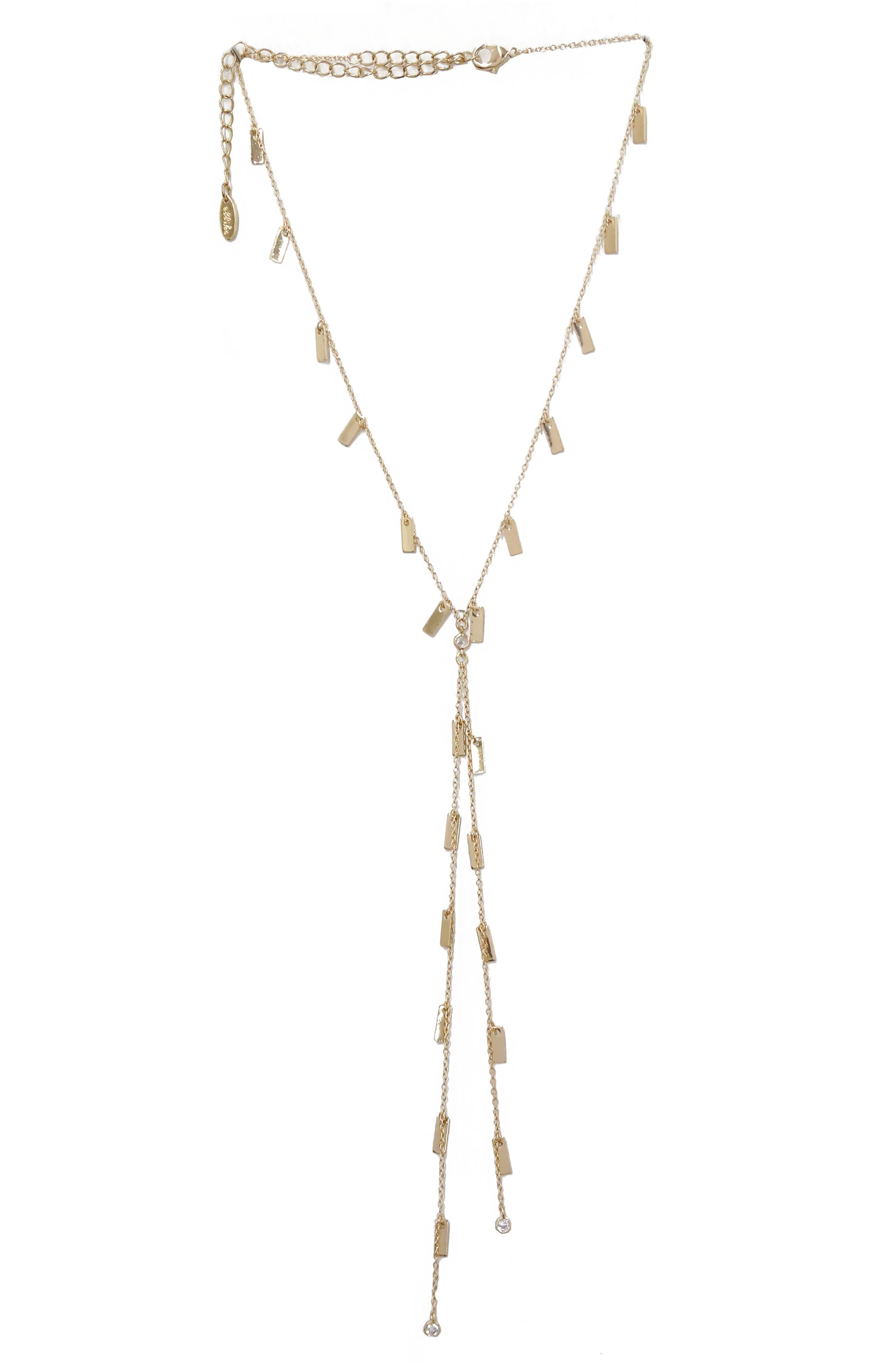 ETTIKA Bar Chain Lariat Necklace in Gold