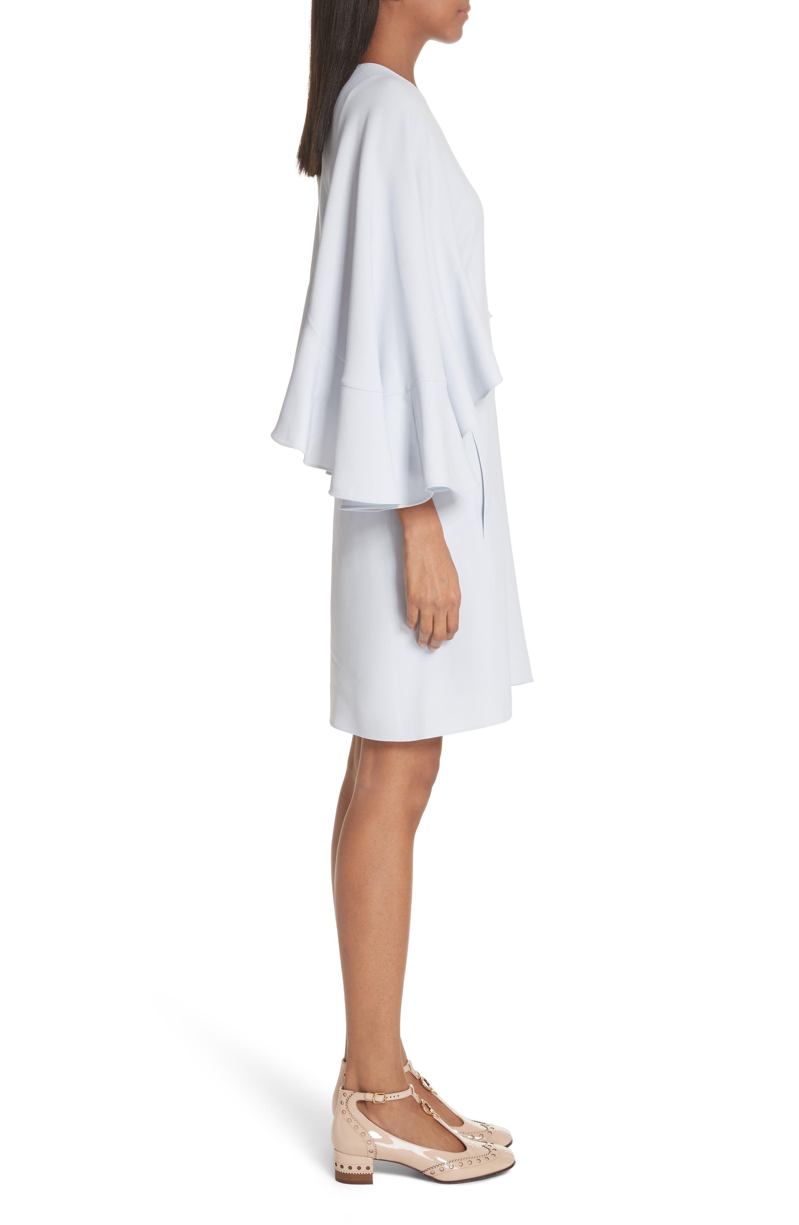 Flutter Sleece Cady Shift Dress,                             Alternate thumbnail 3, color,                             450