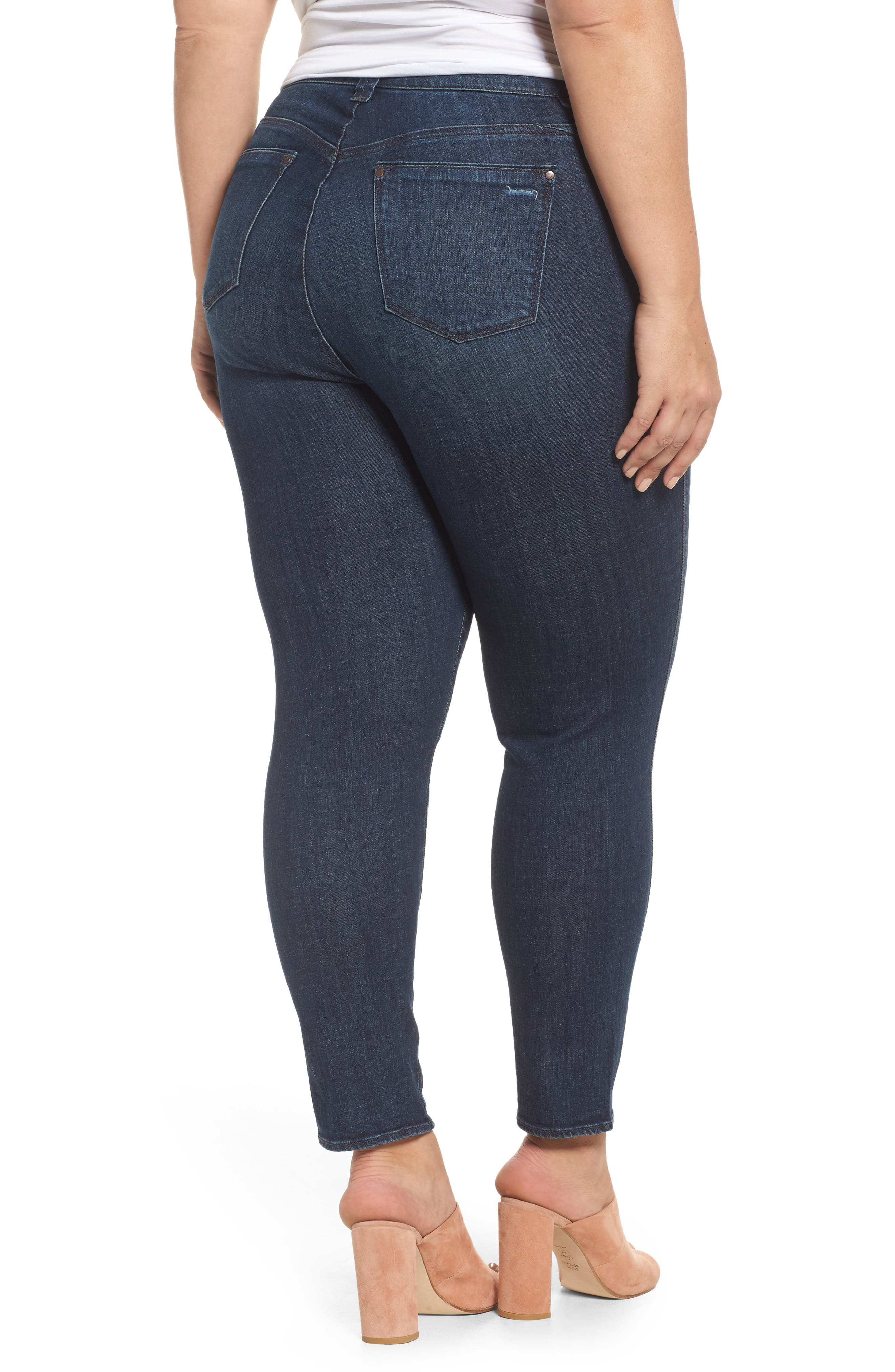Twisted Seam Ankle Skimmer Jeans,                             Alternate thumbnail 2, color,                             402
