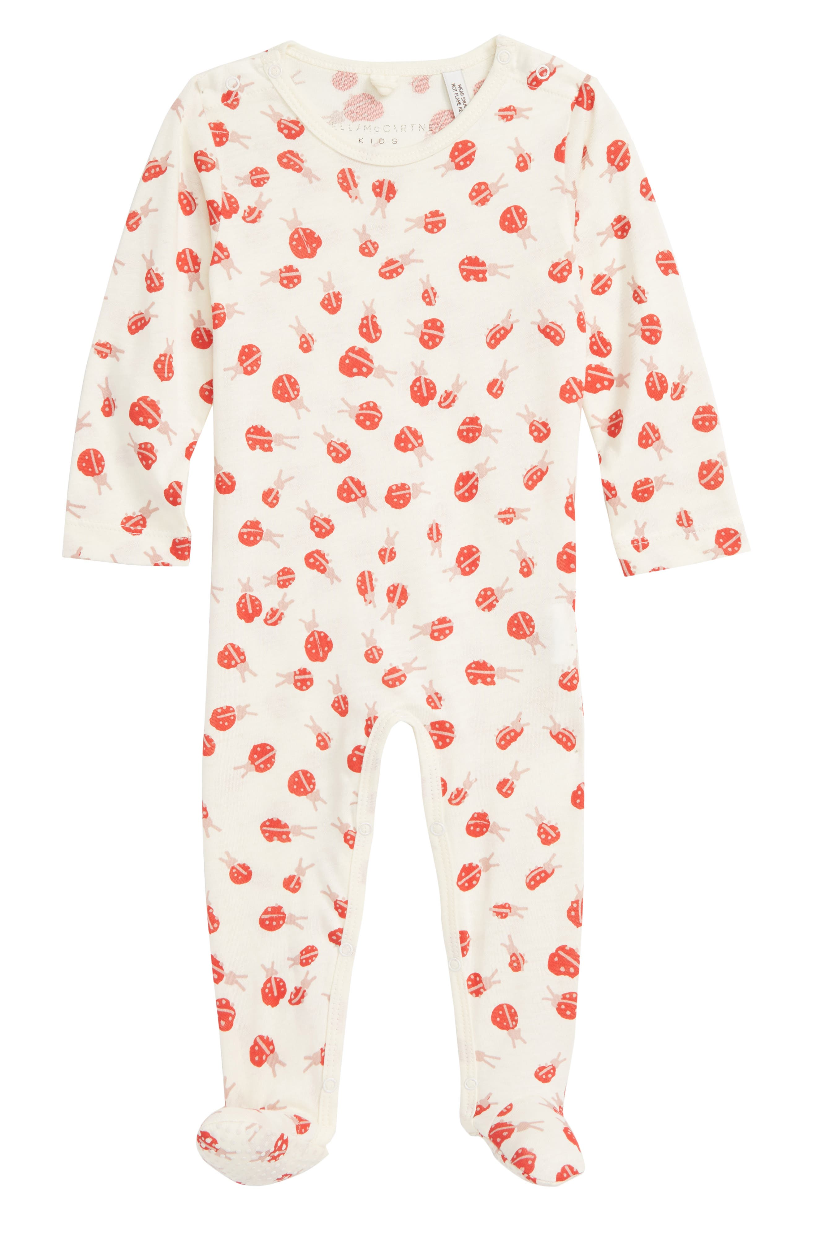 Twiddle Ladybug Footie,                             Main thumbnail 1, color,                             100