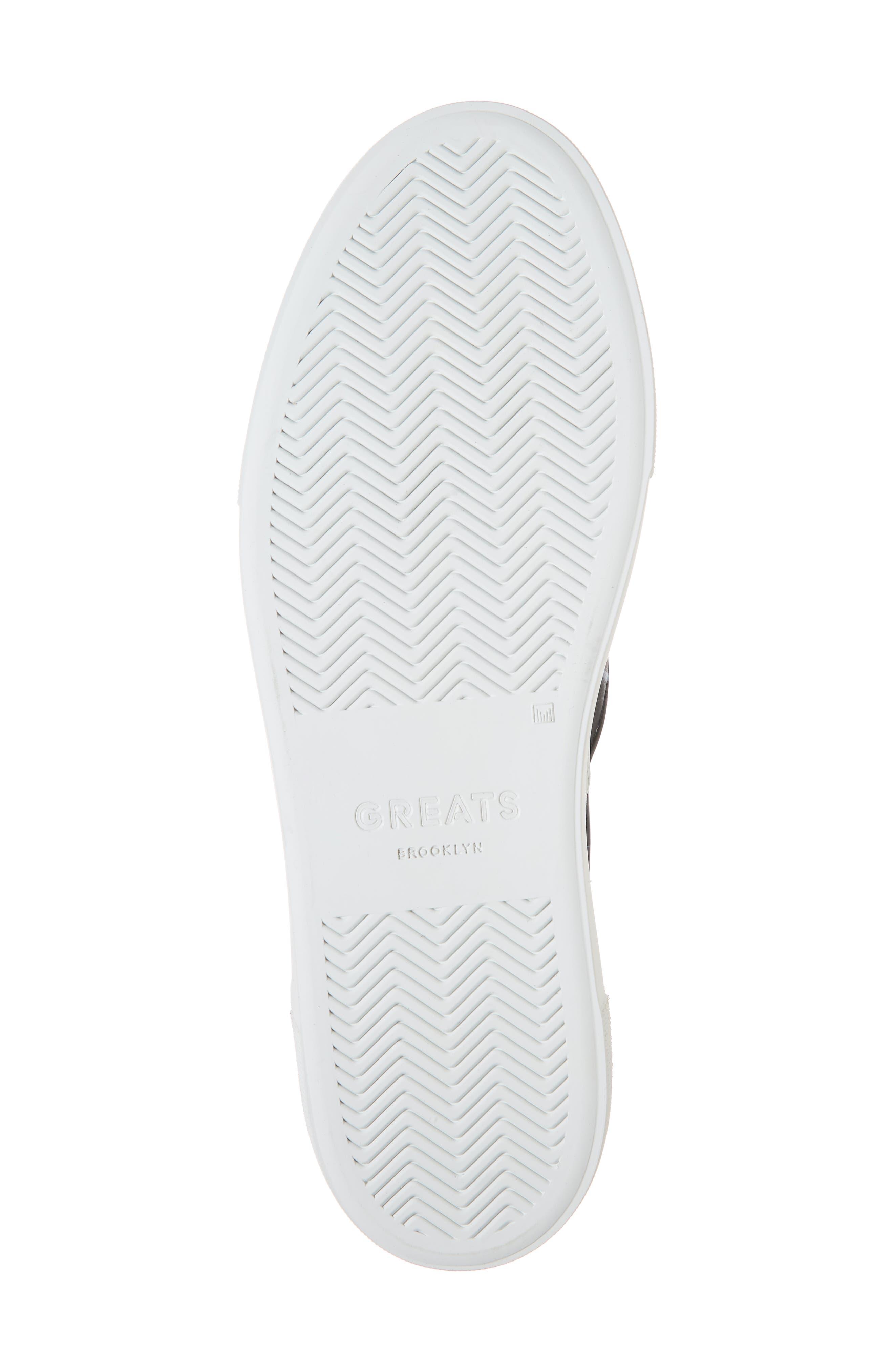 Nick Wooster x GREATS Slip-On Sneaker,                             Alternate thumbnail 6, color,                             BLACK W/ 3M DOTS