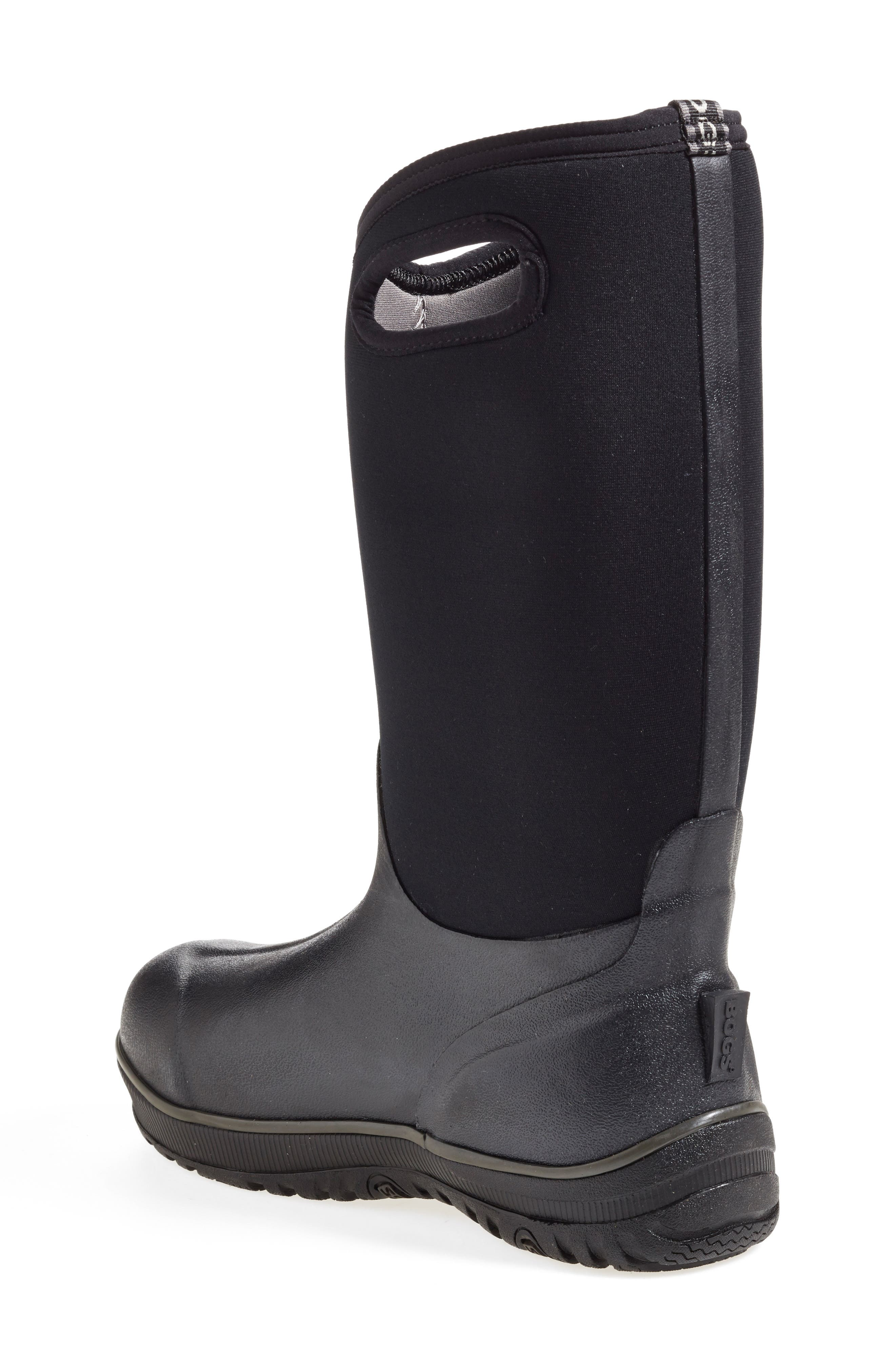 'Classic' Ultra High Waterproof Snow Boot with Cutout Handles,                             Alternate thumbnail 6, color,                             001