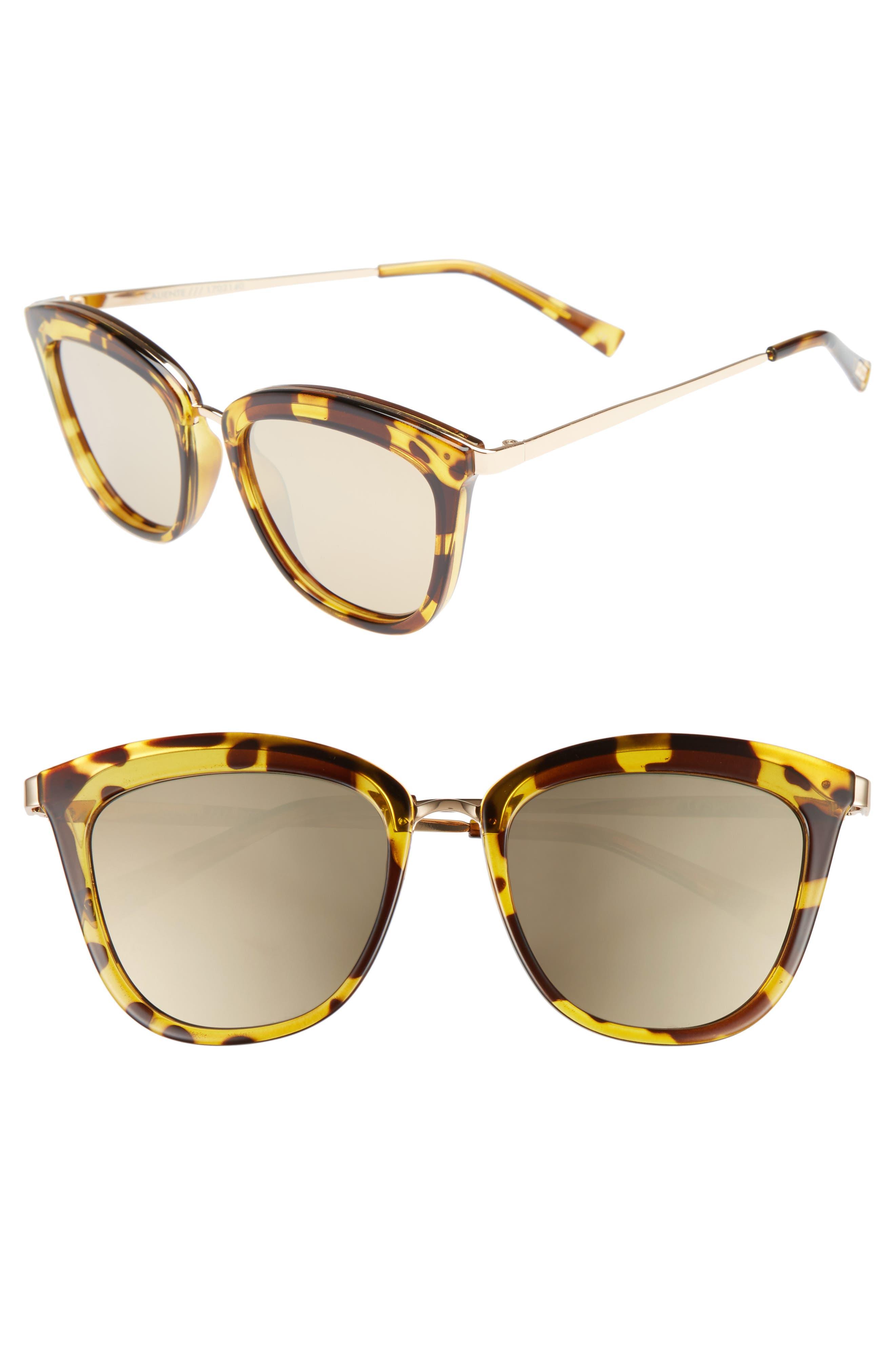 Le Specs Caliente 5m Cat Eye Sunglasses - Syrup Tort