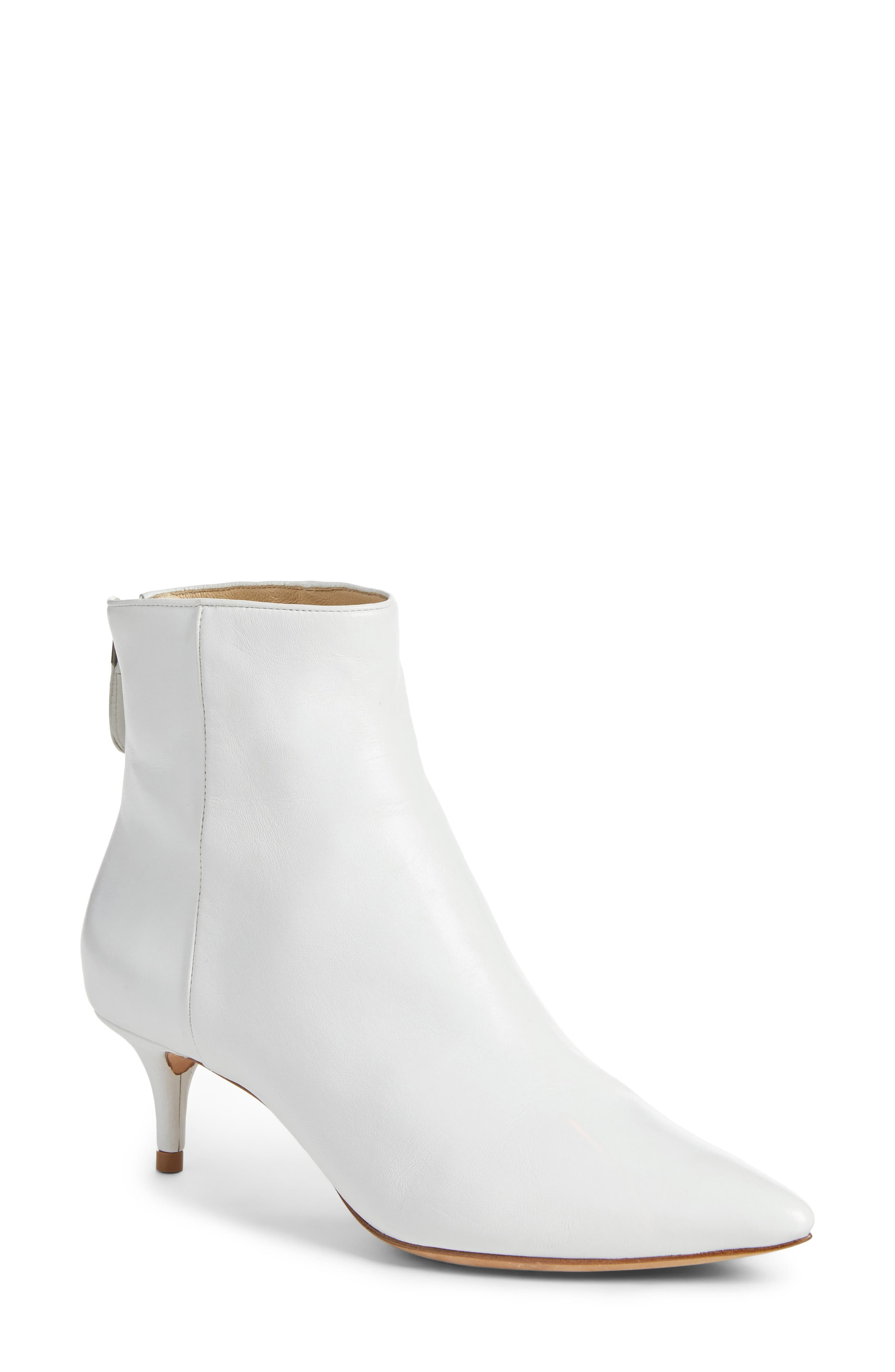 Kittie Pointy Toe Bootie,                             Main thumbnail 1, color,                             WHITE