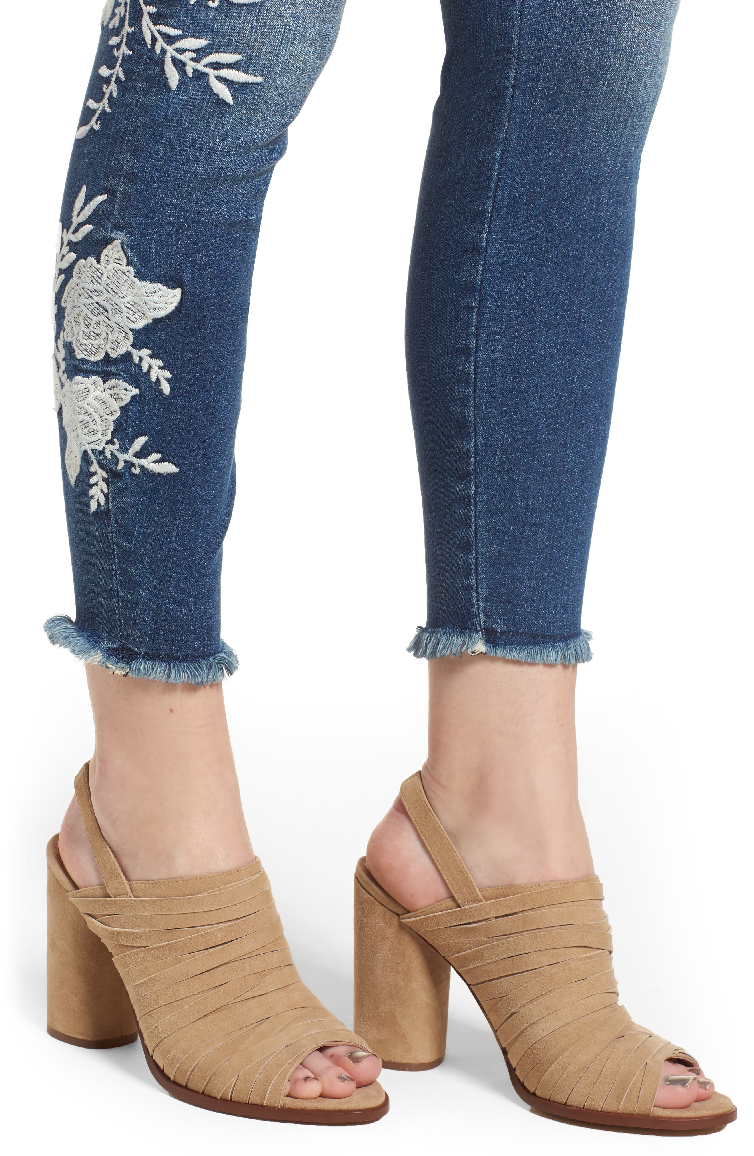 KUT KOLLECTION,                             KUT from the Kloth Connie Embroidered Skinny Jeans,                             Alternate thumbnail 4, color,                             400