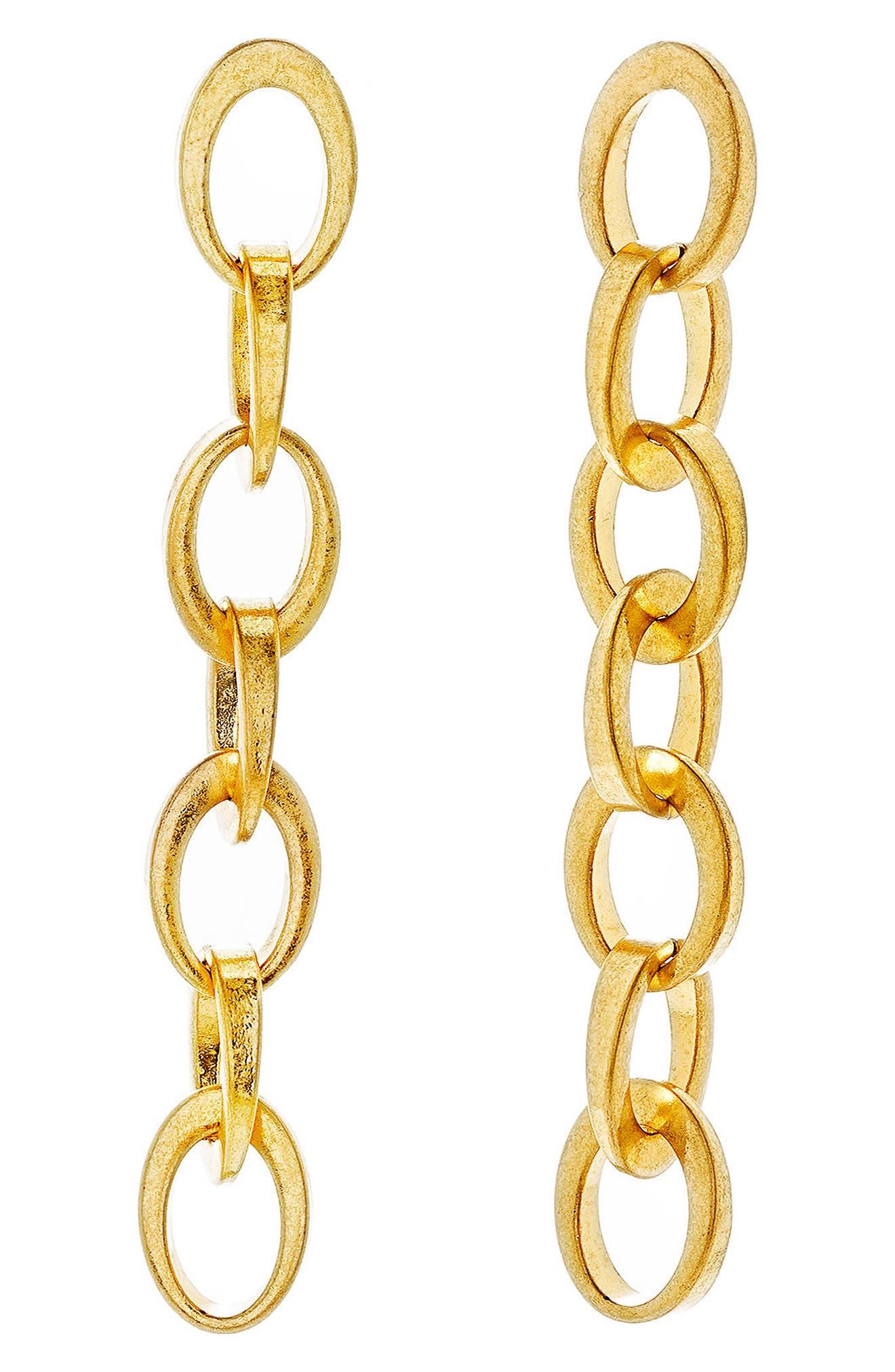 Rolo Dangle Chain Earrings,                             Main thumbnail 1, color,                             710
