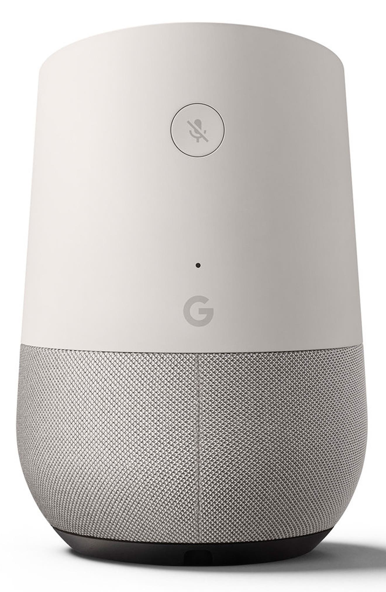 Home Voice Activated Speaker,                             Main thumbnail 1, color,                             WHITE