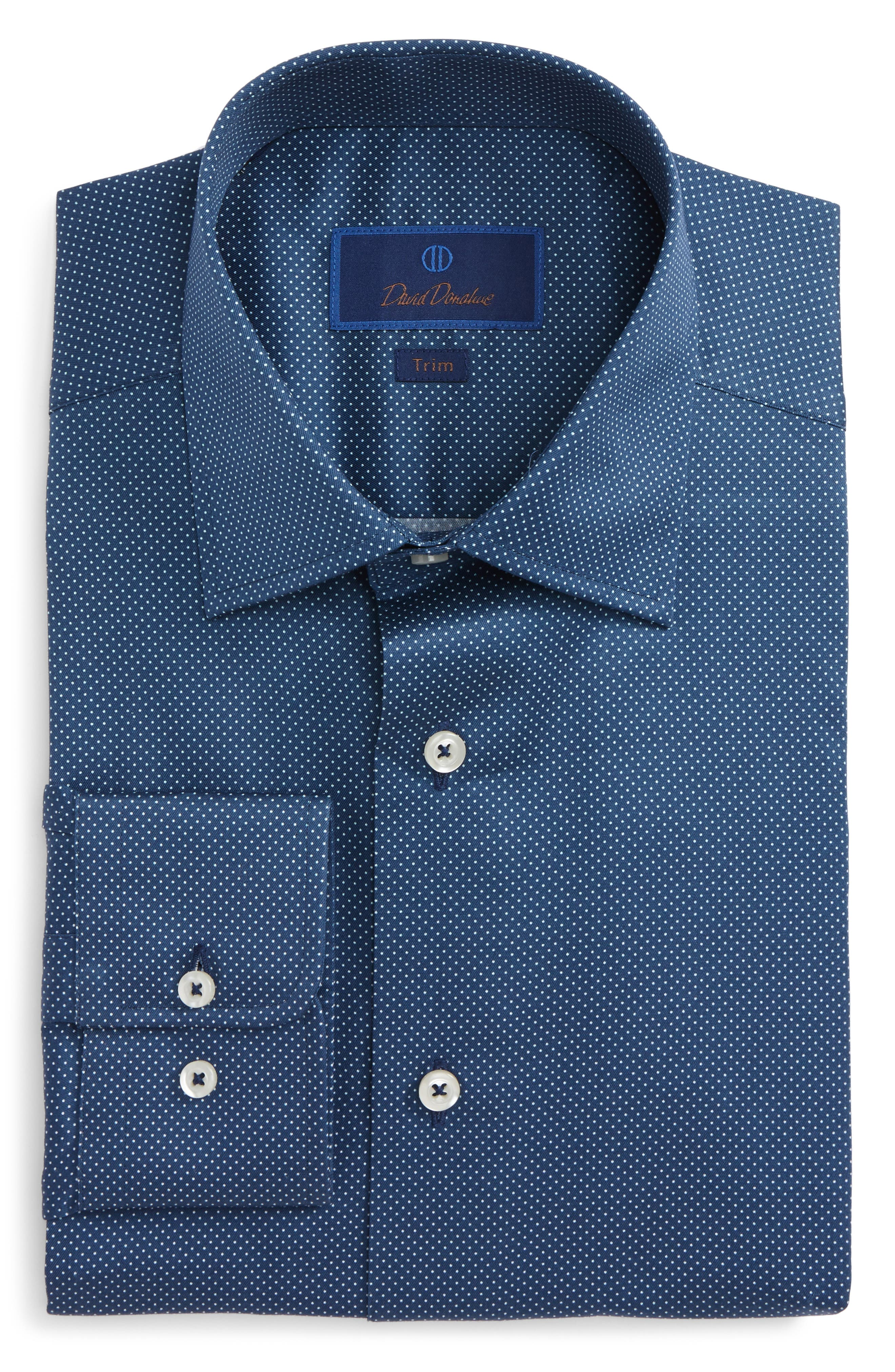 Trim Fit Dot Dress Shirt,                             Main thumbnail 2, color,
