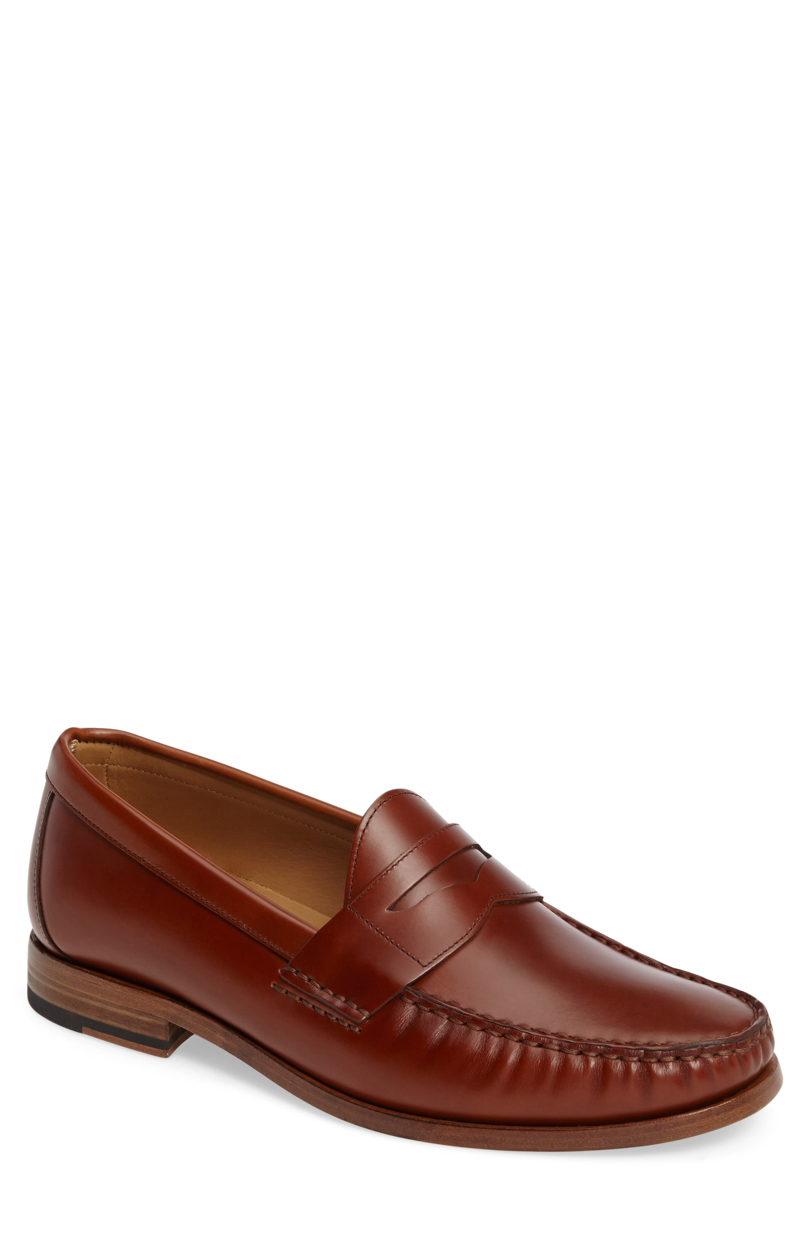 Charlie Penny Loafer,                         Main,                         color, COGNAC LEATHER