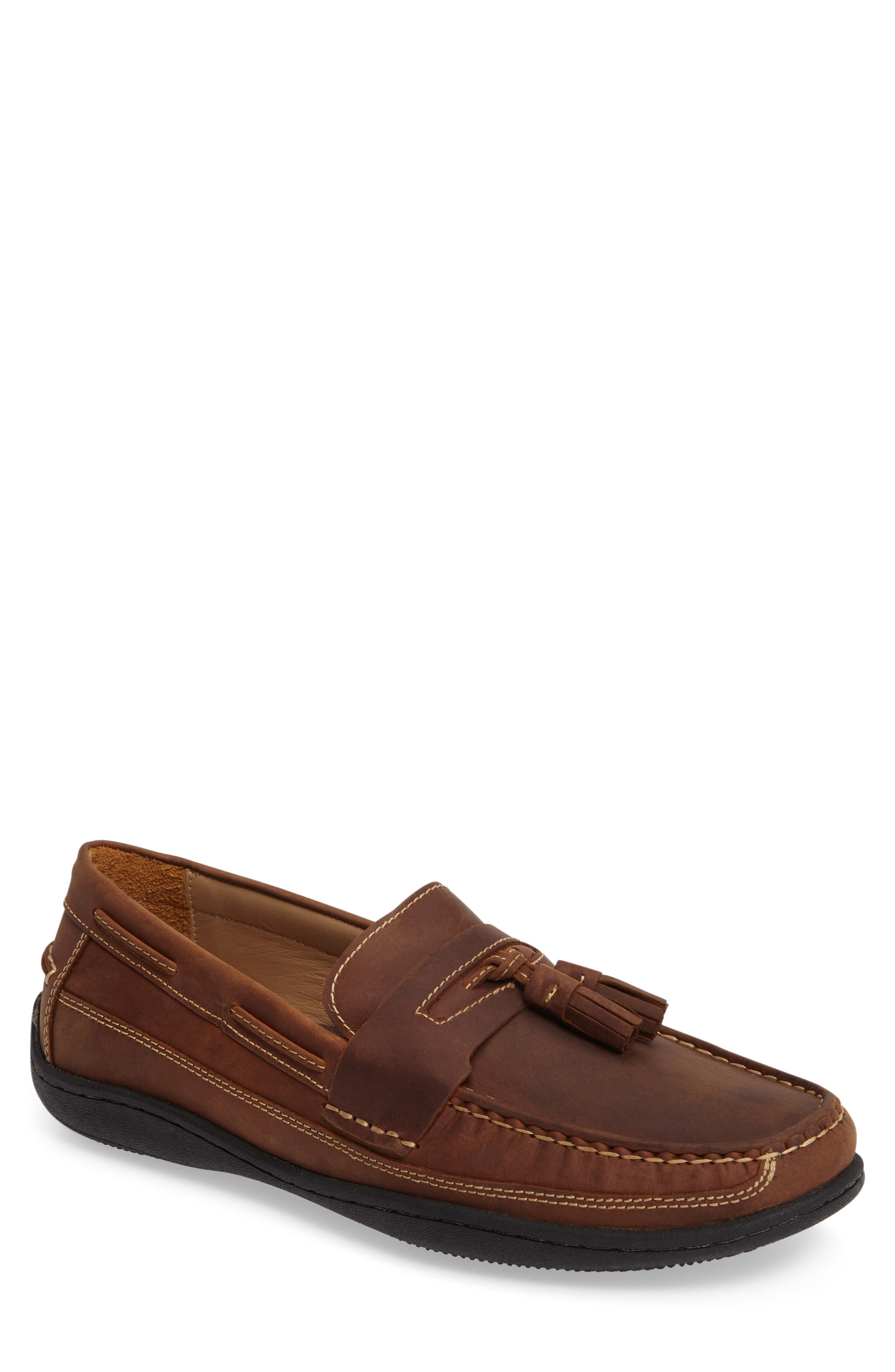 Fowler Tasseled Loafer,                         Main,                         color, TAN LEATHER