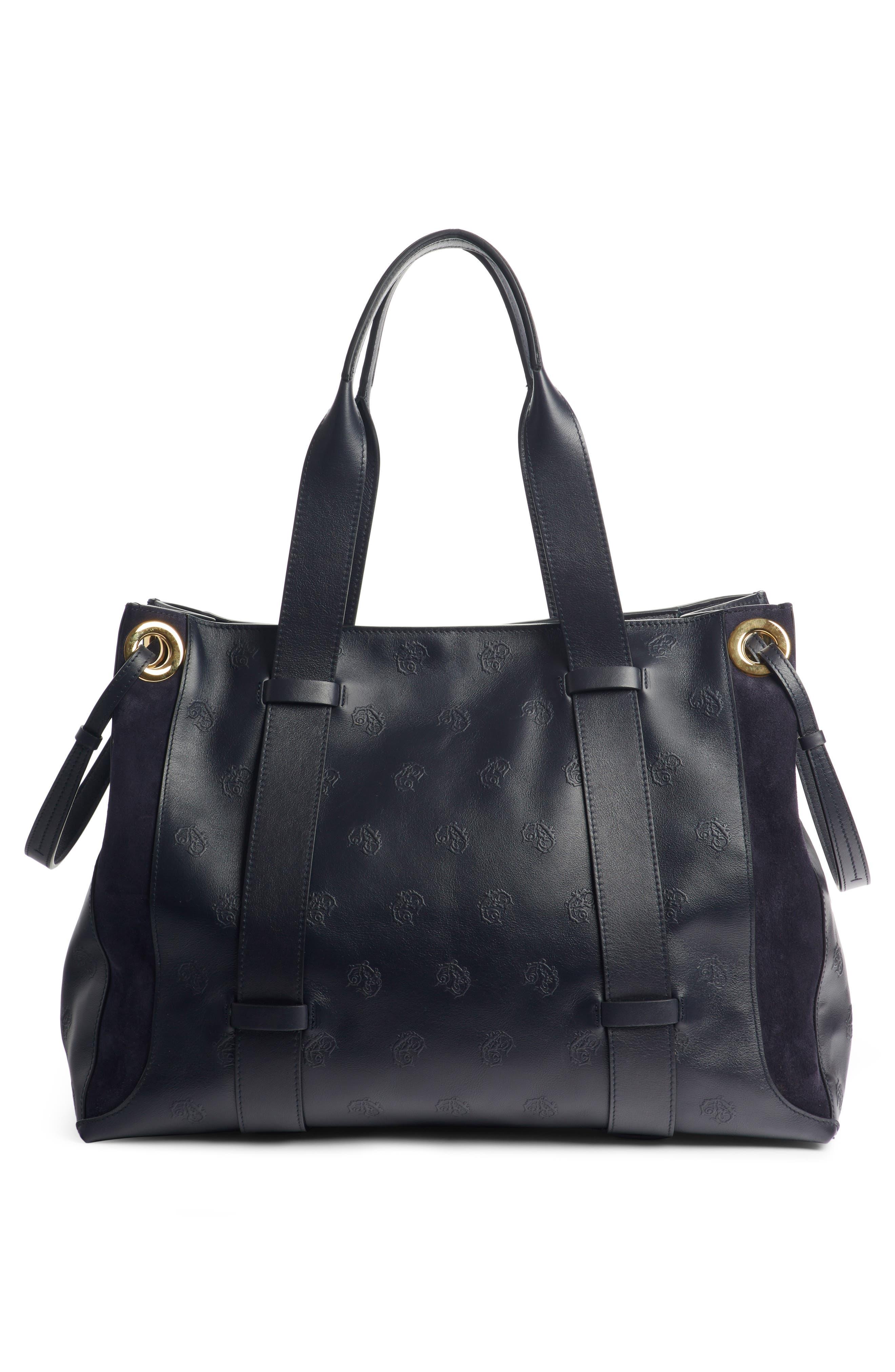 Medium Tao Embossed Leather Satchel,                             Alternate thumbnail 3, color,                             401